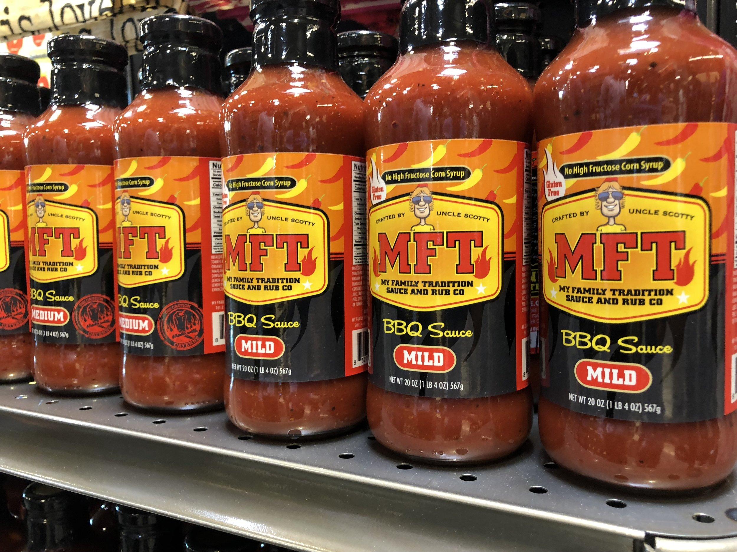 MFT sauces on sale - an Idaho product