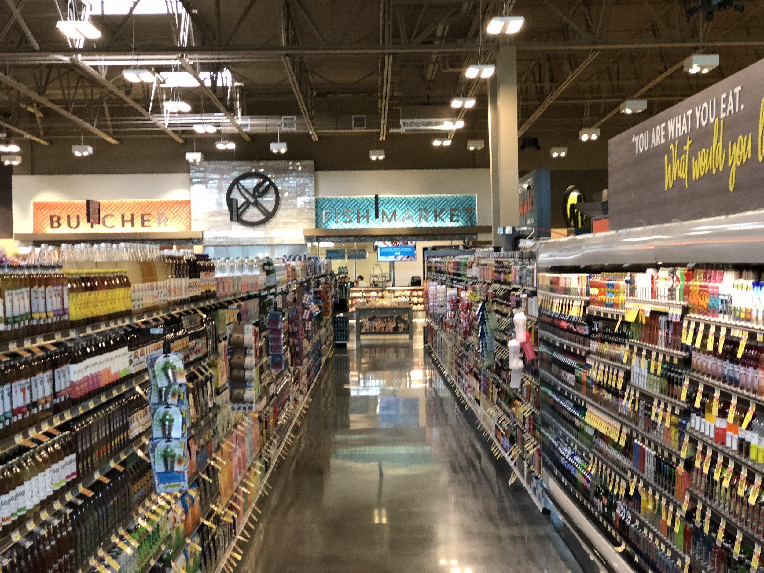 A typical aisle