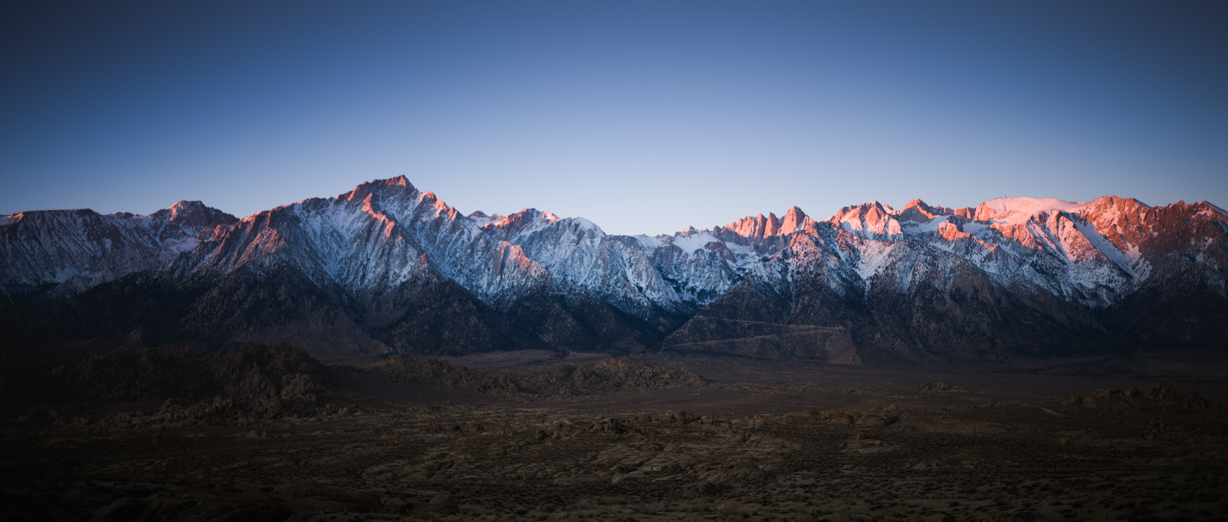 Eastern Sierras at sunrise