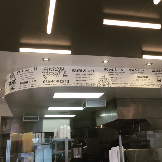 LocoL menu on the inside