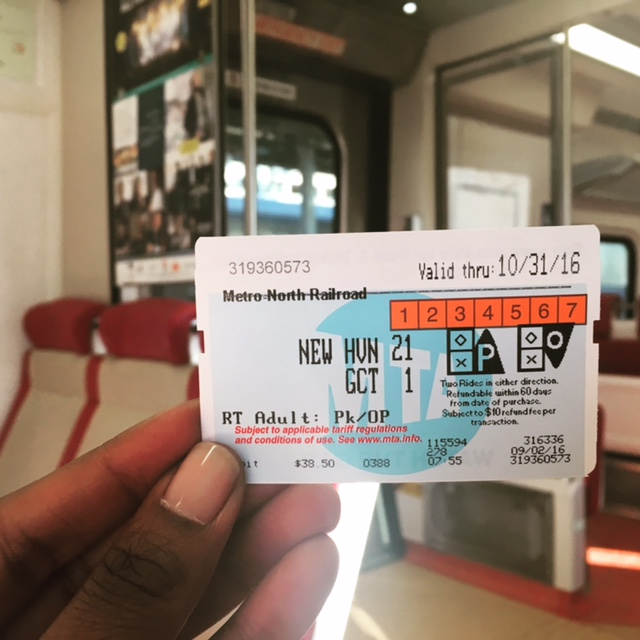 MetroNorth Ticket to NYC