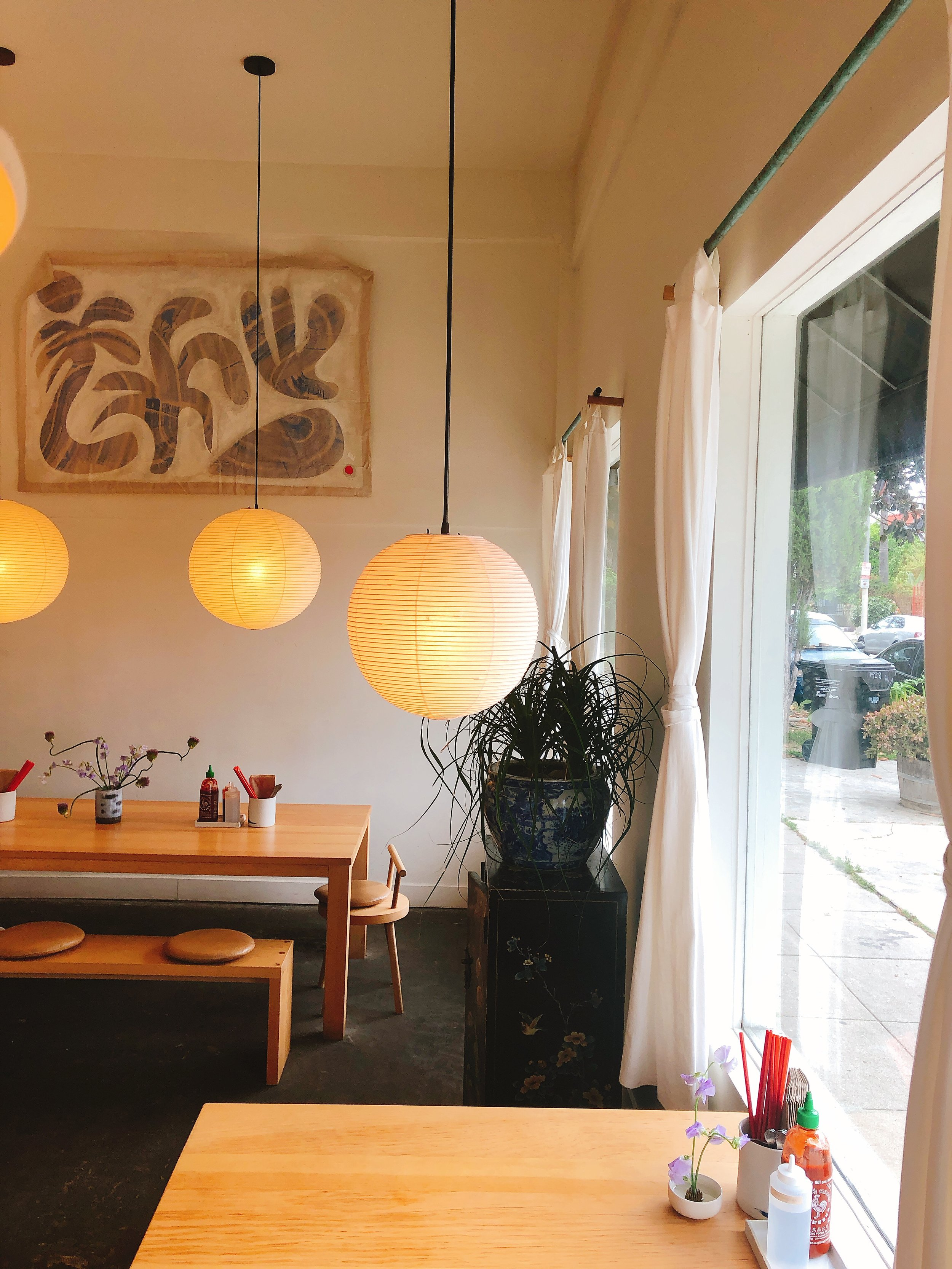 Chill dining area