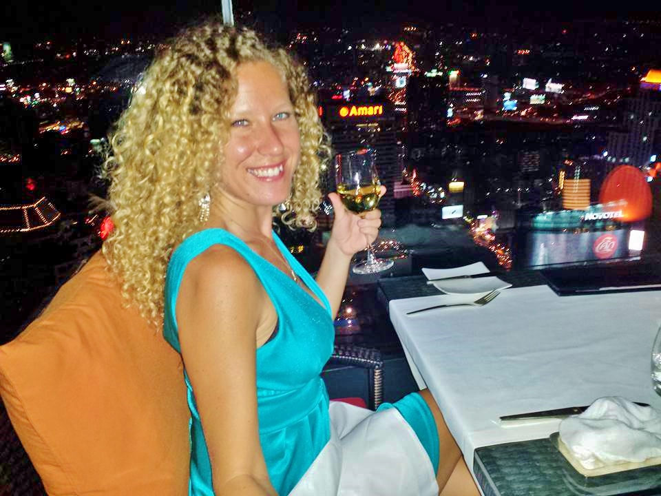 Taking my self out for a solo dinner to the  Red Sky Bar  on my last night in Bangkok