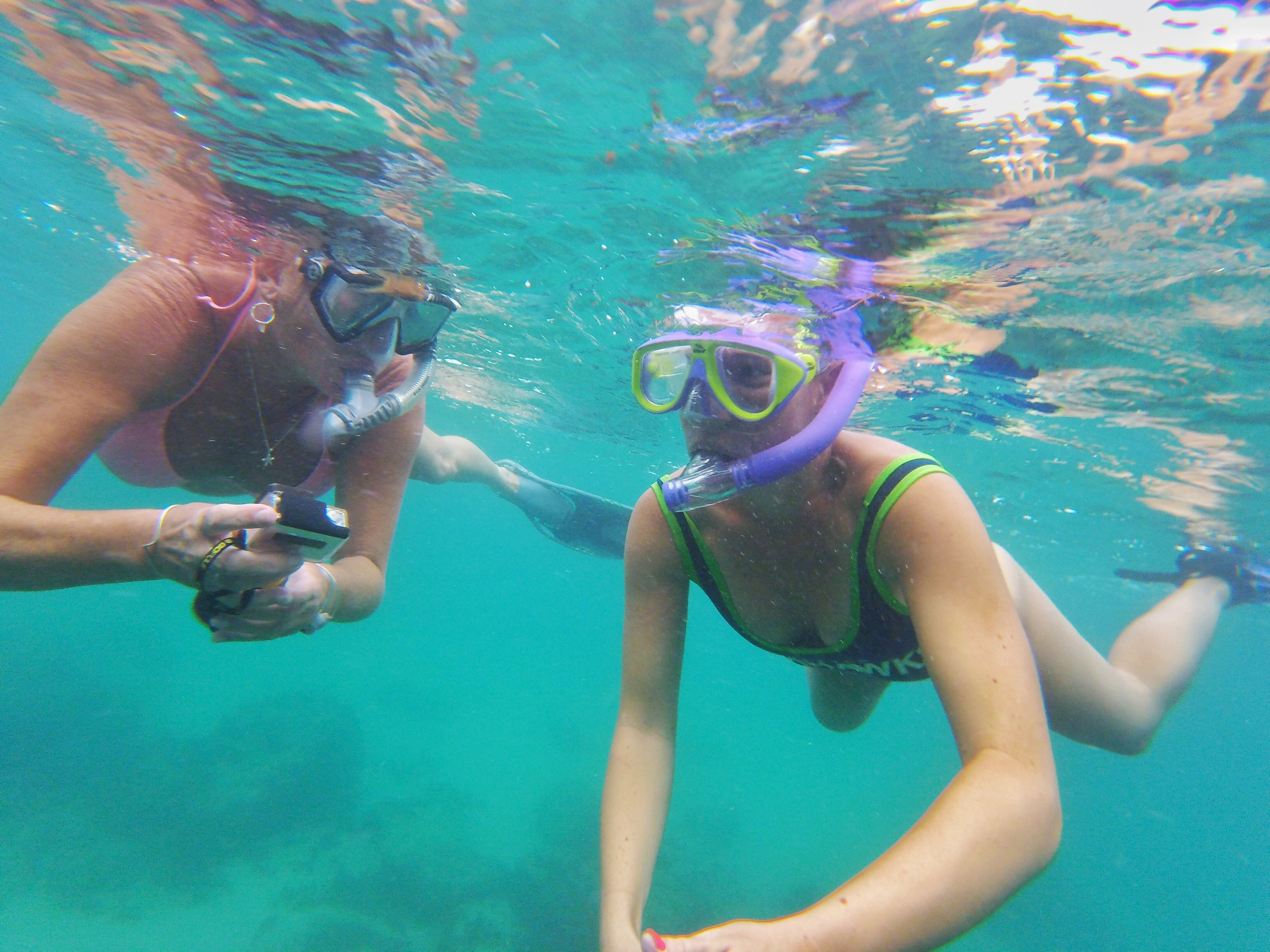 Snorkel tip: Always use the buddy system when snorkeling!