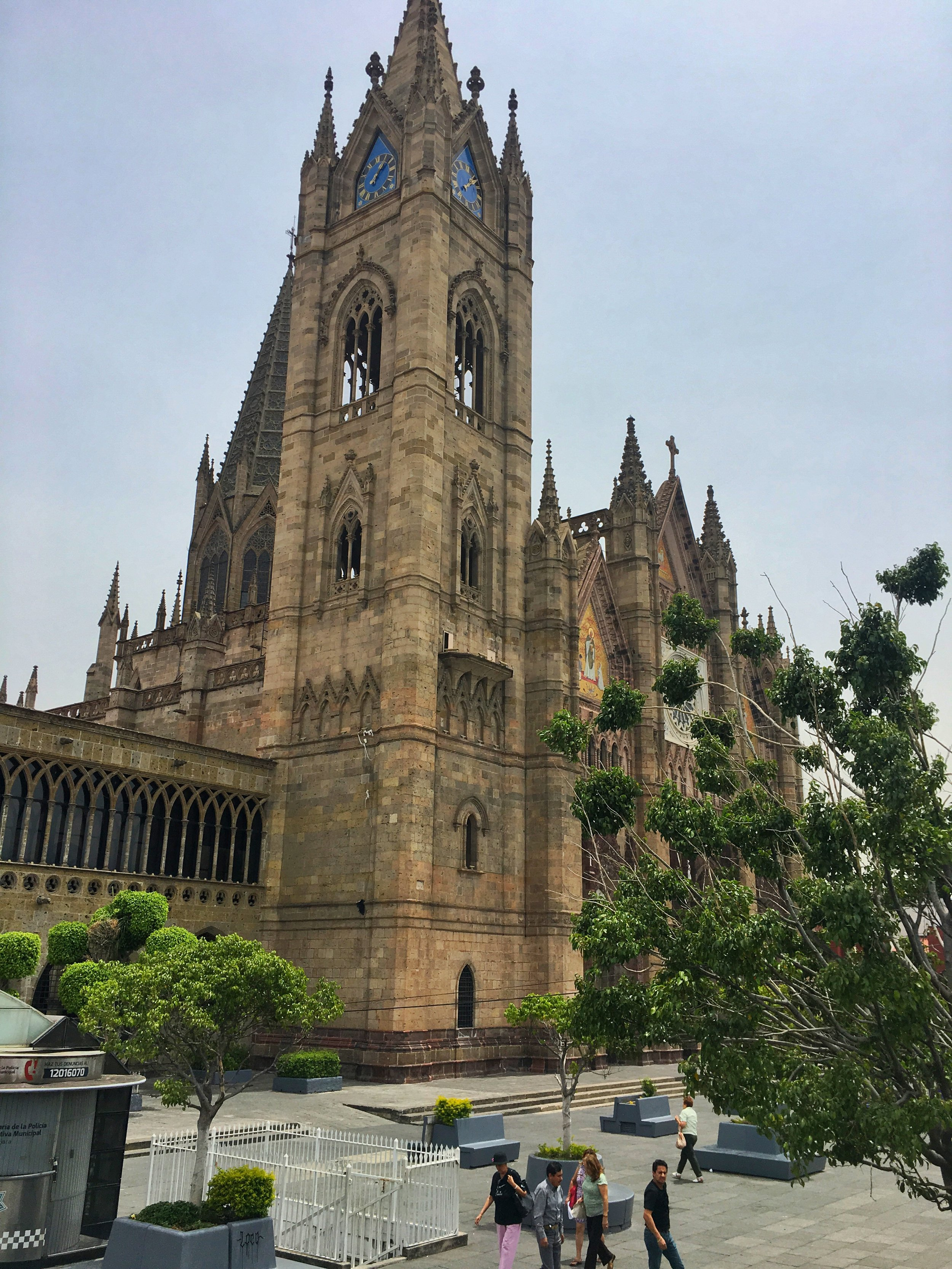 The original cathedral was built in 1541, but destroyed in 1574 during Mass when neighbors fired shots into the air. Some of the bullets fell onto the cathedral and started a fire, severely damaging the building. The new cathedral was completed in February 1618.