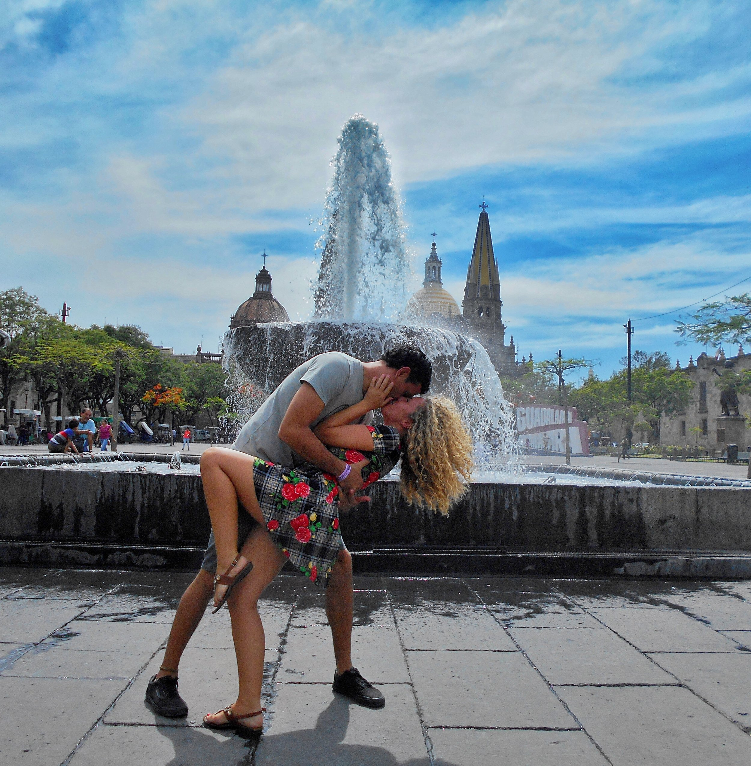 The fountain, the cathedral, Guadalajara…We couldn't resist!