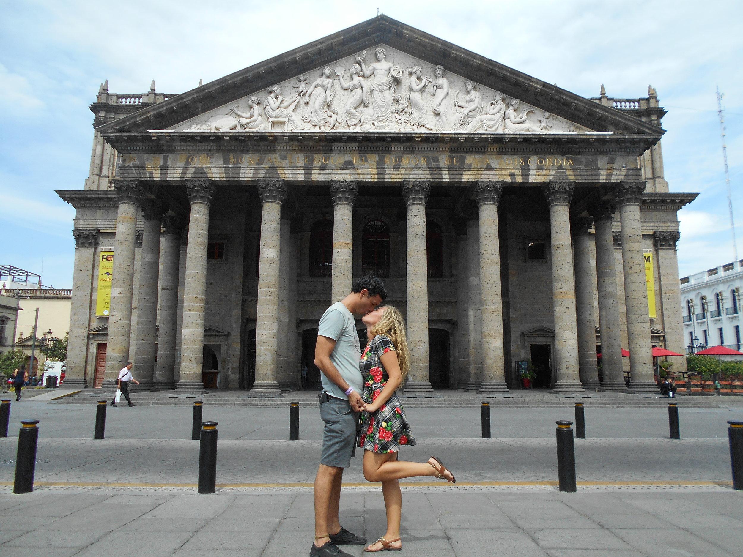 #CouplesTravelGoals acheived at Teatro Degollado in Guadalajara