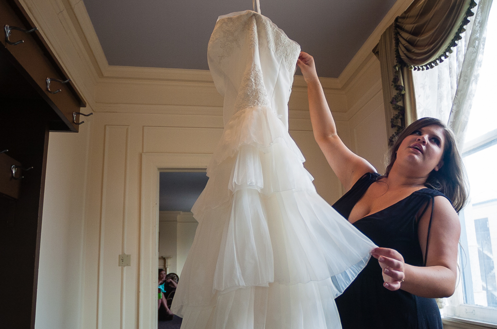Audrey Salsberry marries Jack Hinnenberg at Greystone Hall, in Akron, Ohio.