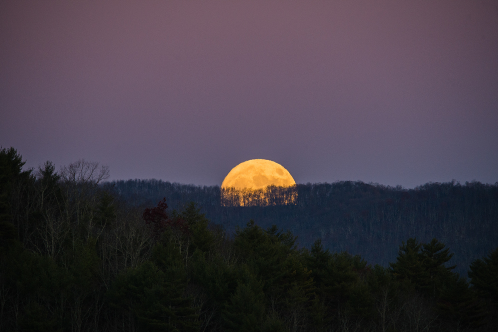 The rising super moon in Perigee – it's closest distance to the Earth.
