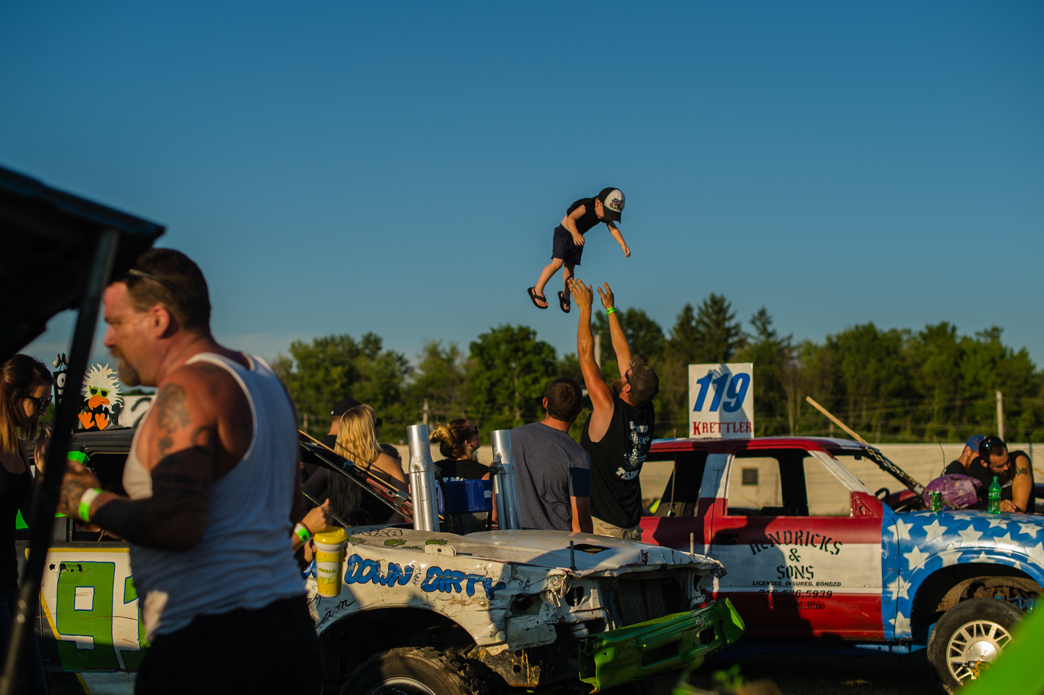 Medina County Fair Demo Derby
