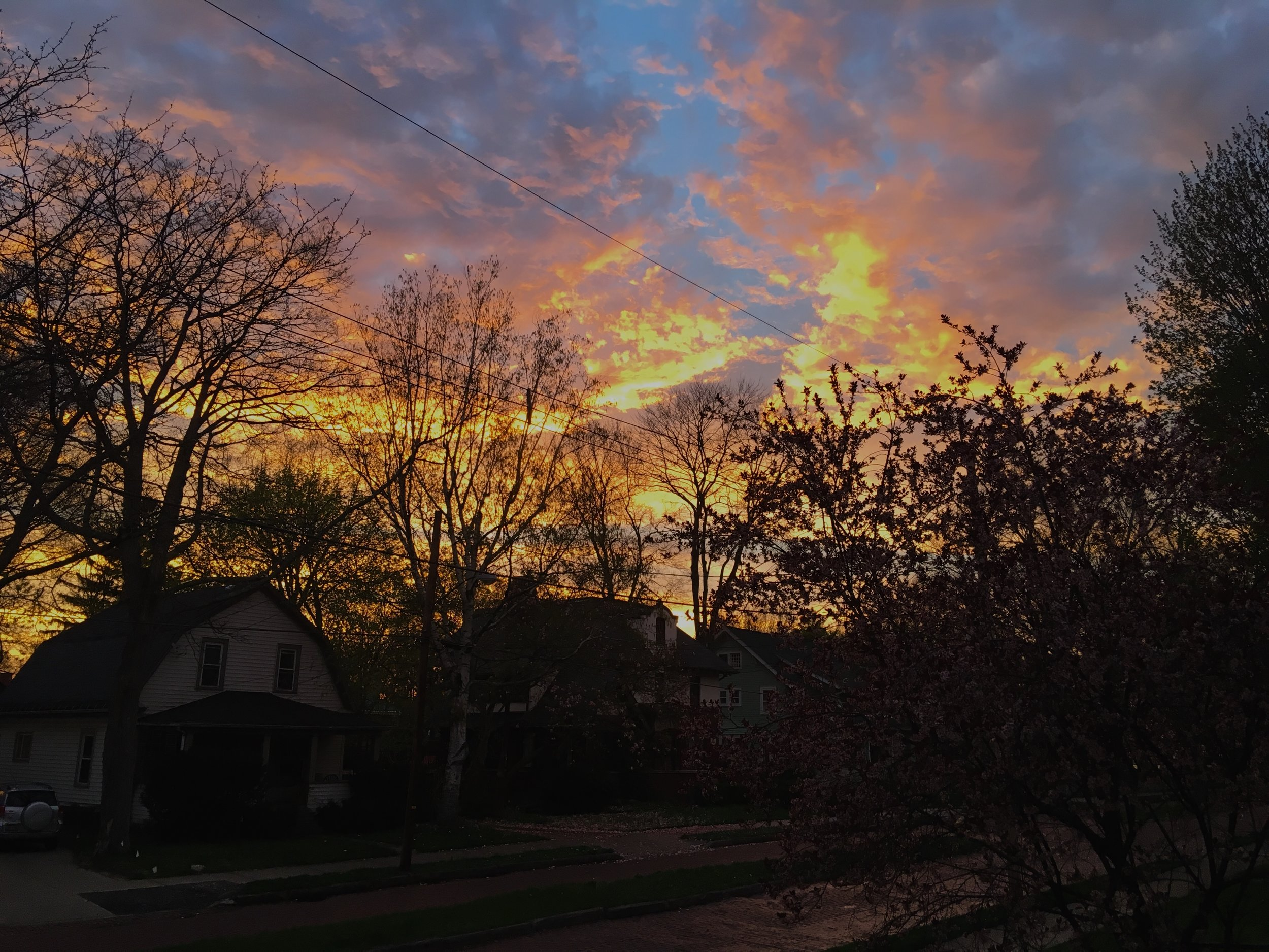 Sunset from our porch.