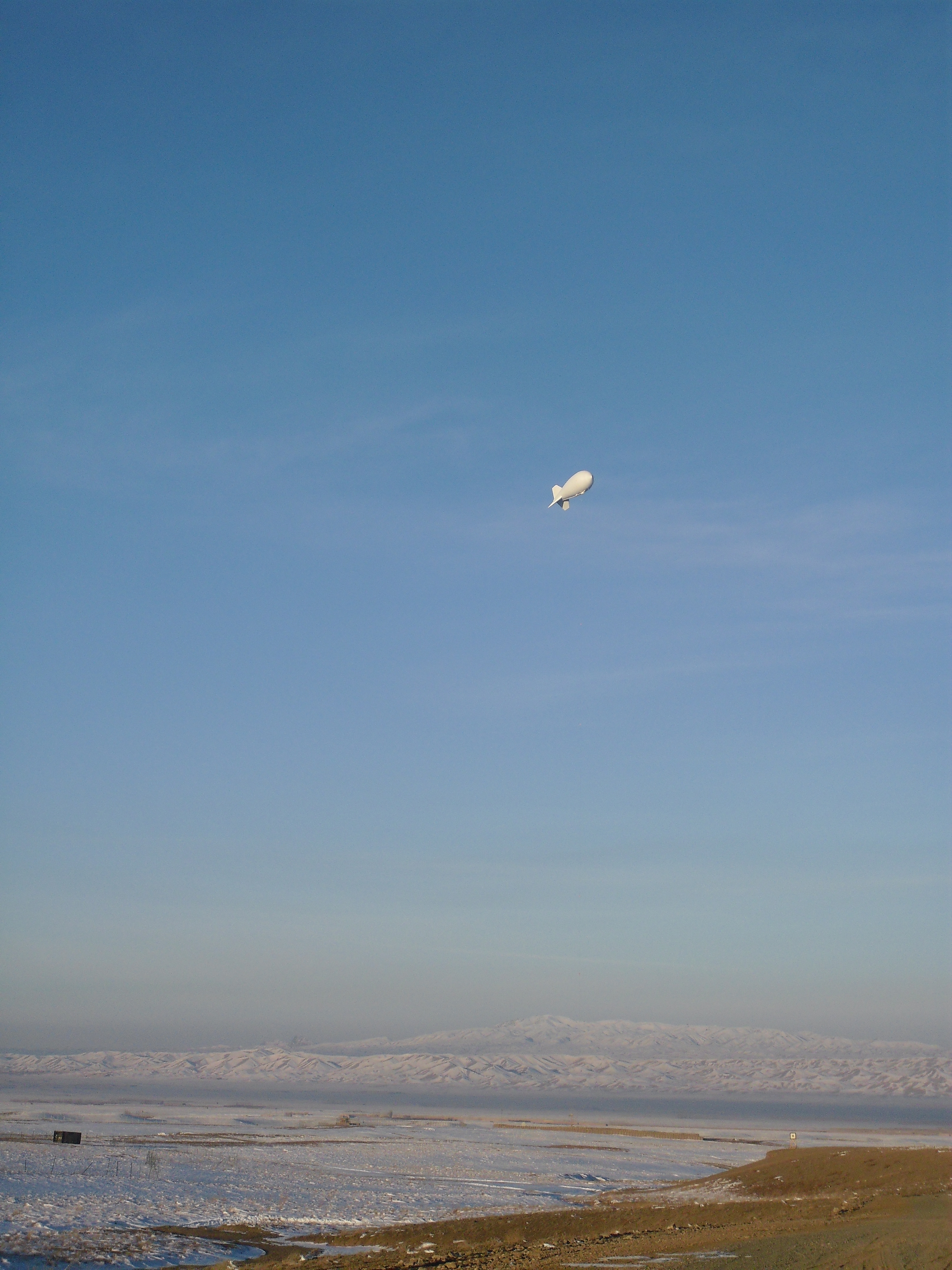 Weather balloon over FOB Sharana, Afghanistan -from author's collection
