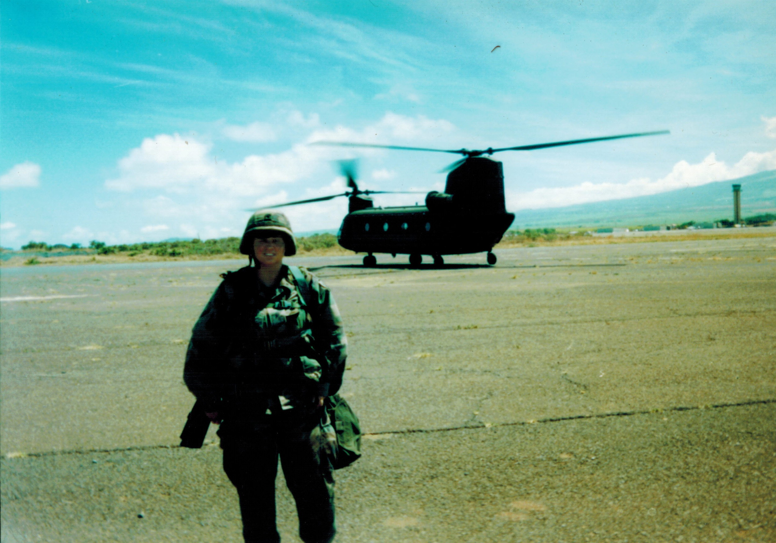 The author, PS Wright, while a SPC in the Army, Wheeler Air Field, Hawaii
