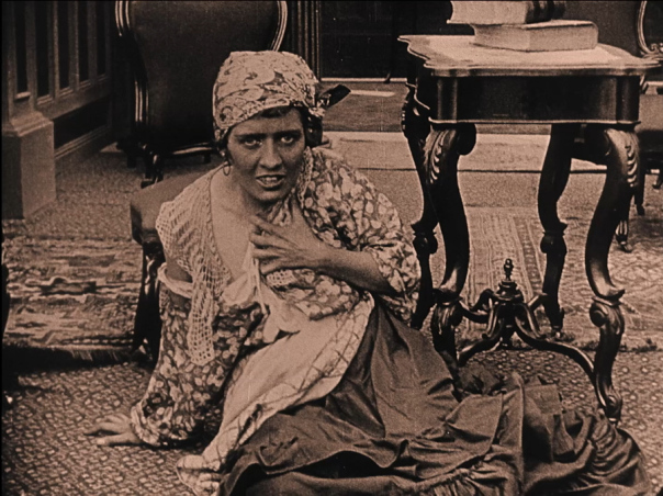 Mulatto maid and lover -Still from The Birth of a Nation by D.W. Griffith