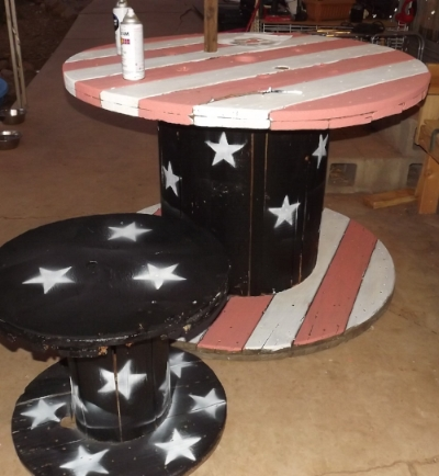 I actually owned this redneck outdoor furniture.