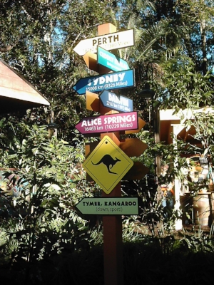 Australia Signs In World Showcase, Epcot, Walt Disney World, Florida 2006 - author's collection