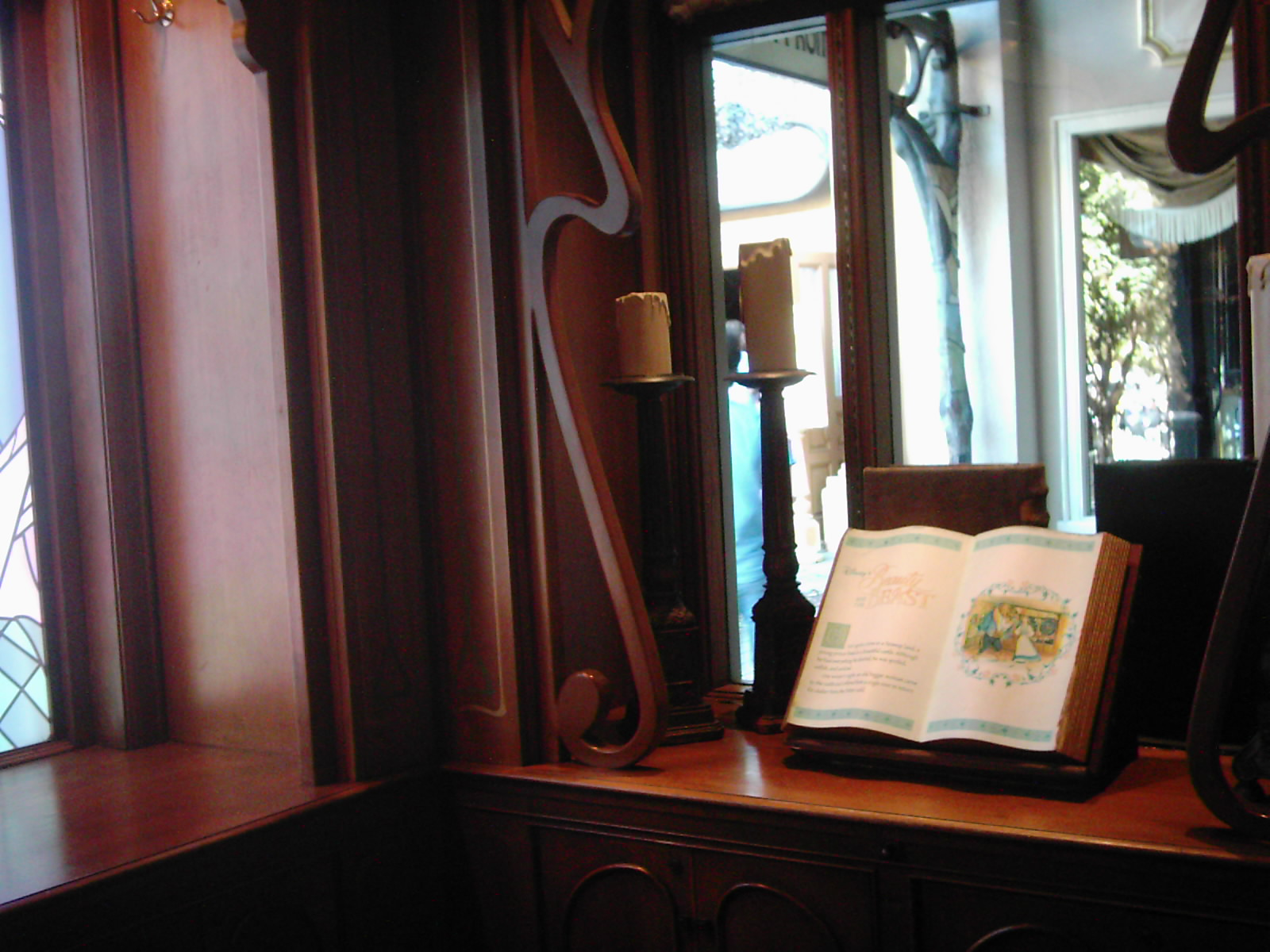 Beauty and the Beast Storybook in France Pavilion, Epcot - author's collection