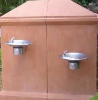 Typical water fountains in WDW