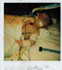 My son in hospital 1991