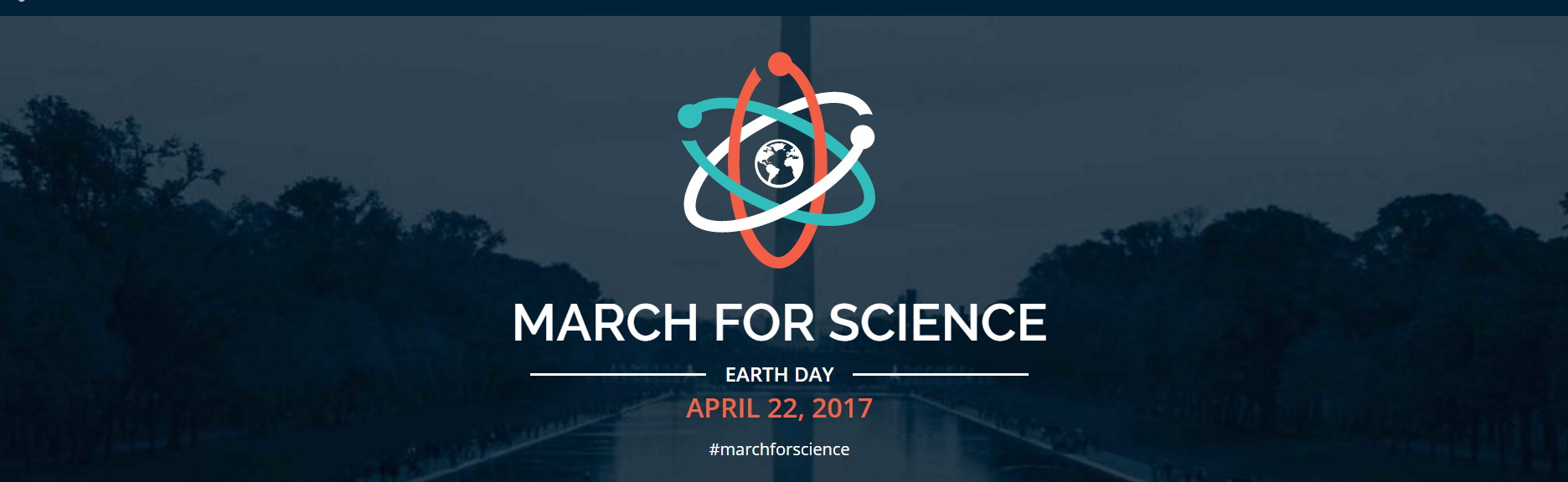 March for Science web page banner