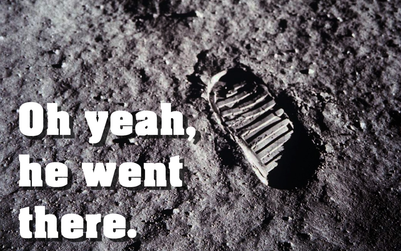 Photo of Neil Armstrong's bootprint on the moon courtesy NASA. NASA retains the copyright.