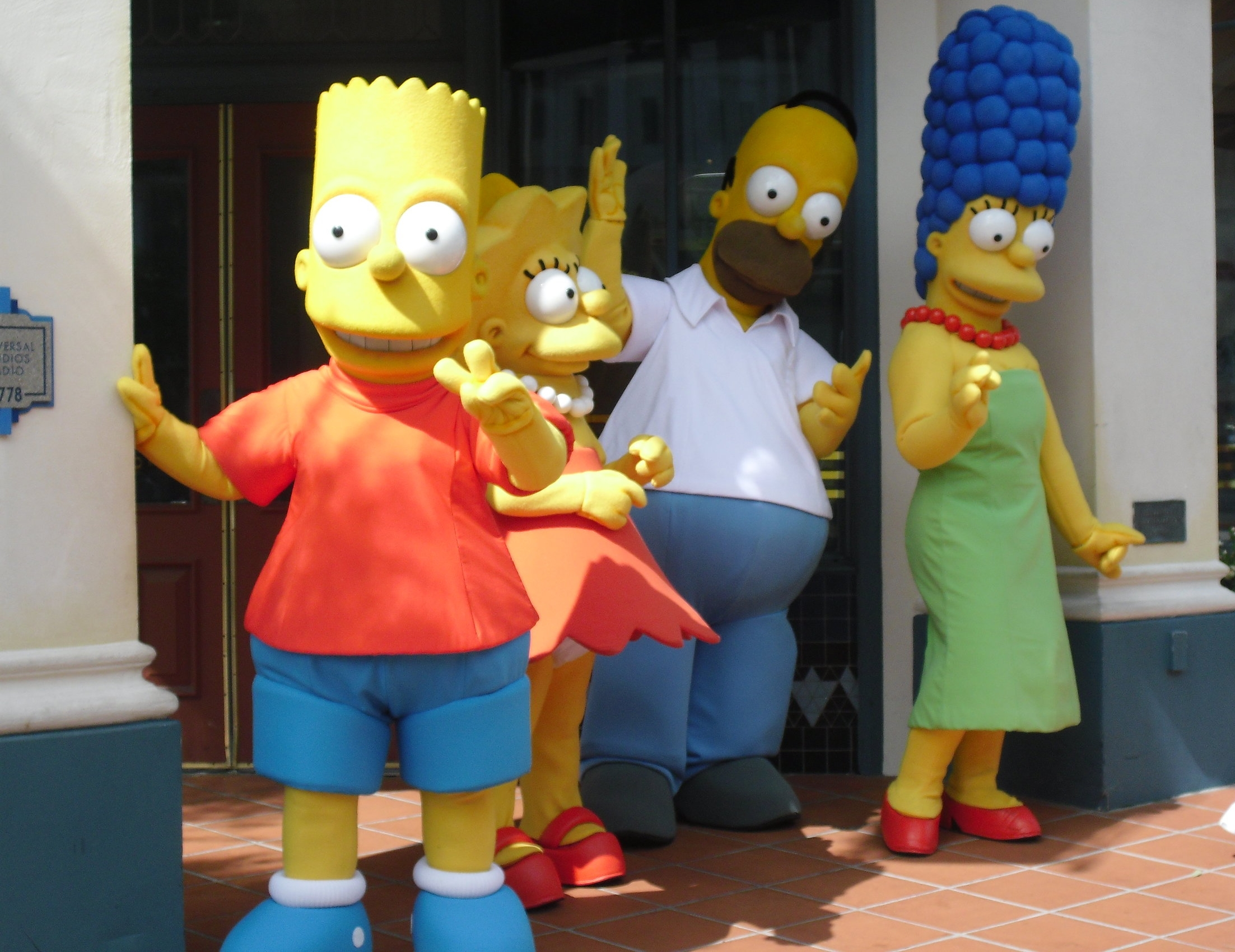 The Simpsons characters at Universal Studios, Florida
