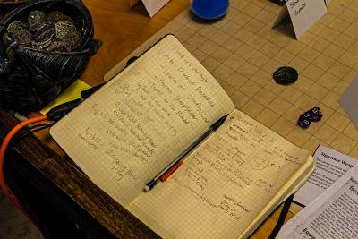 Spencer Crittendon's planning notebook.