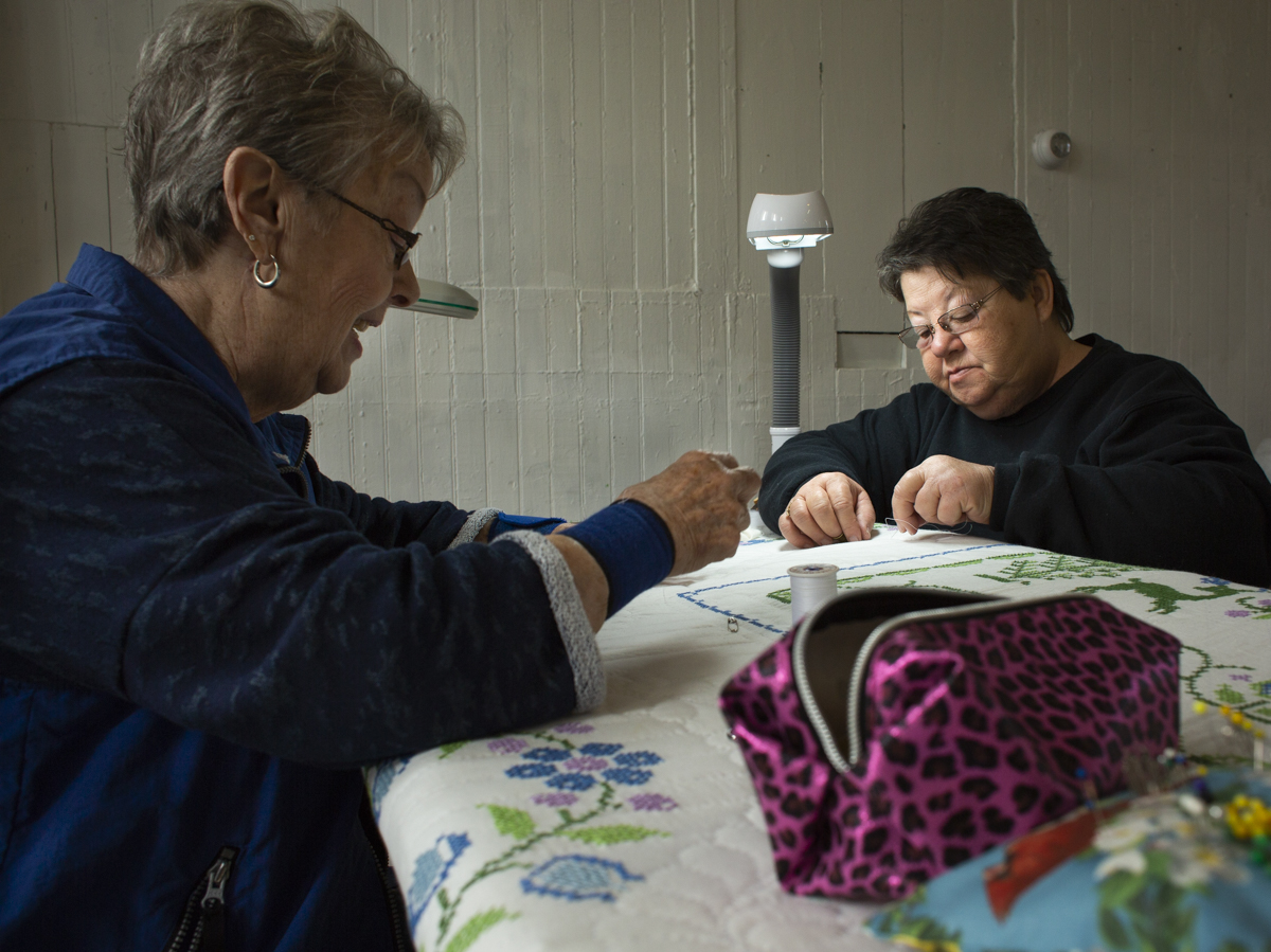 "The members of the Glouster Project work hard to maintain the culture and value of Glouster. Most of their work is finishing quilts brought to them that ""someone's grandma started and never finished."" They do the hand quilting for them and are happy to teach anyone who stops by the Train Depot. ""It's an art and it's a lost art almost,"" said member Sandra Vaughn."
