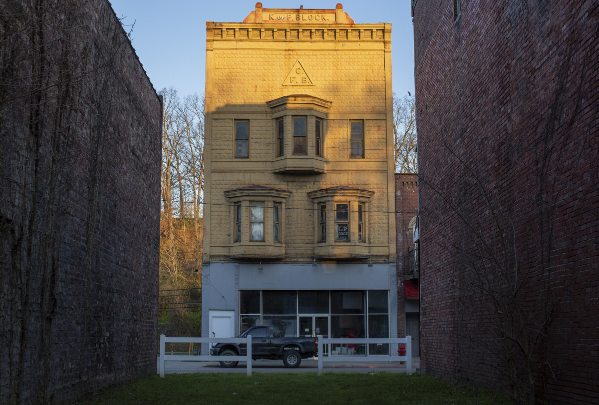 "Many of Glouster's historic buildings from its time as a boom town have either fallen into disrepair or been torn down. ""I'd rather see them down than left to rot. I think it's too late to save some of them and that's too bad,"" said Glouster Project President Betsy Shamhart."