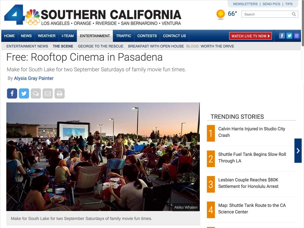 South Lake Rooftop Cinema Series