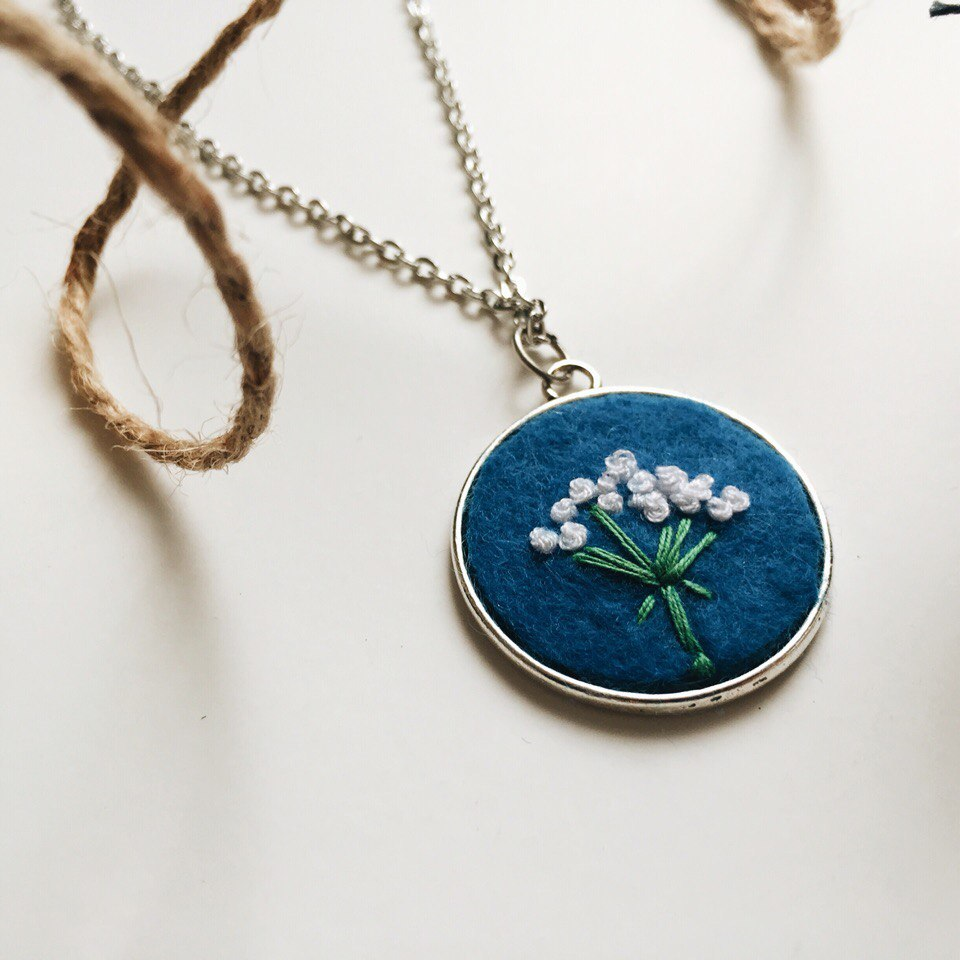 Embroidery Pendant