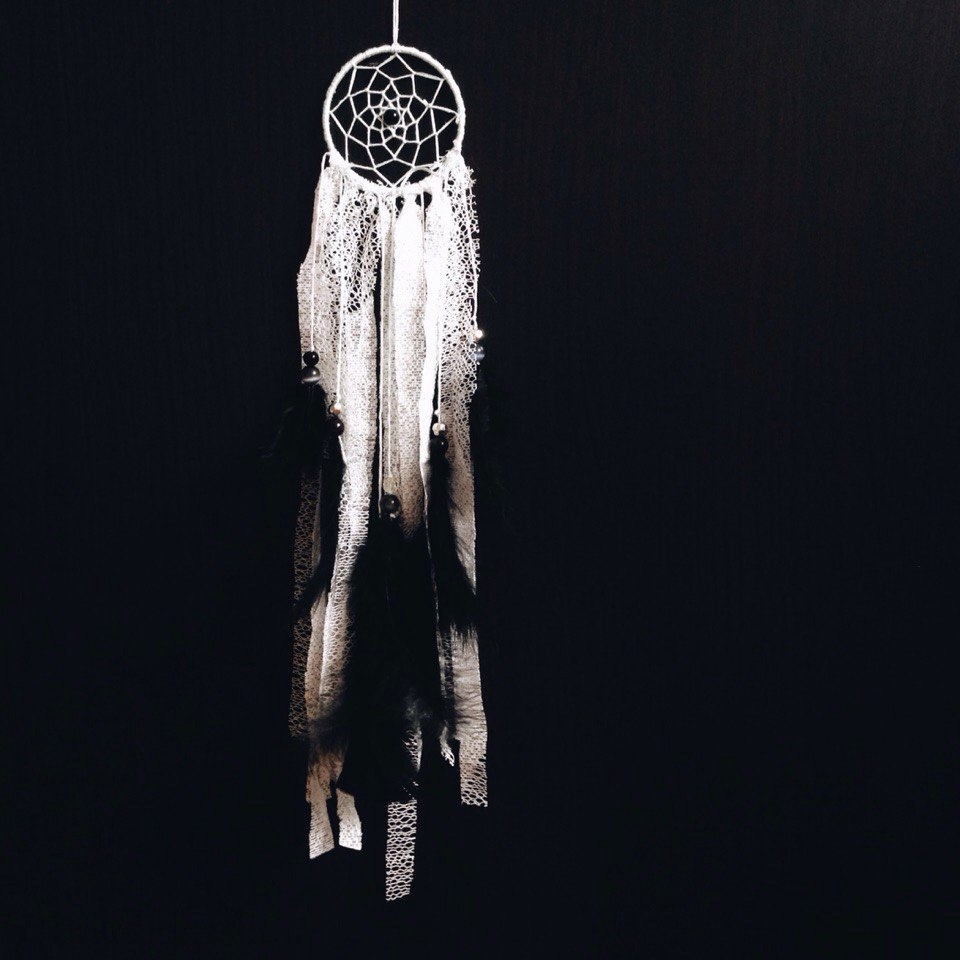 Black and White Dream Catcher