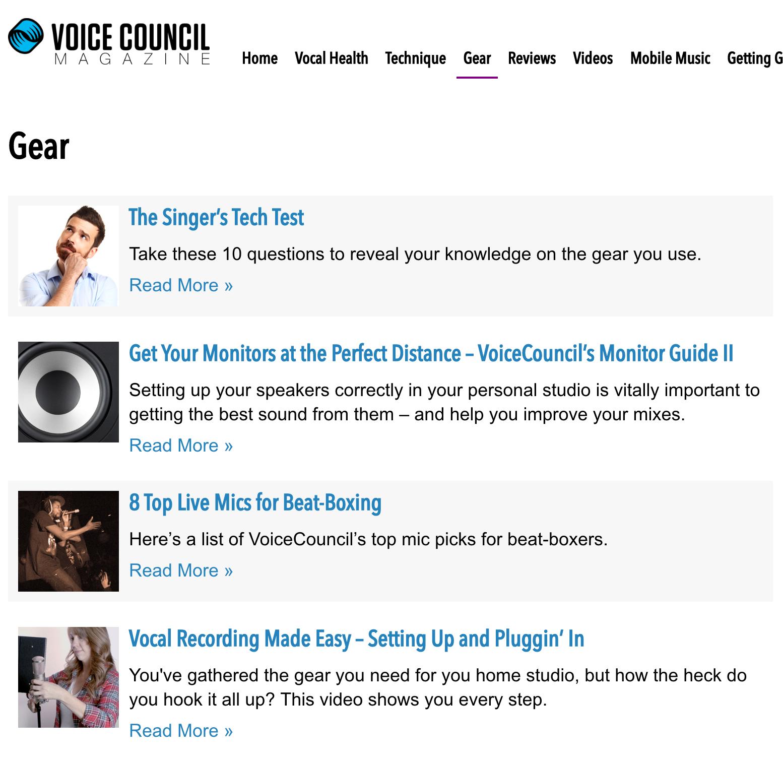 Screenshot: Voice Council Magazine, 29 May 2016