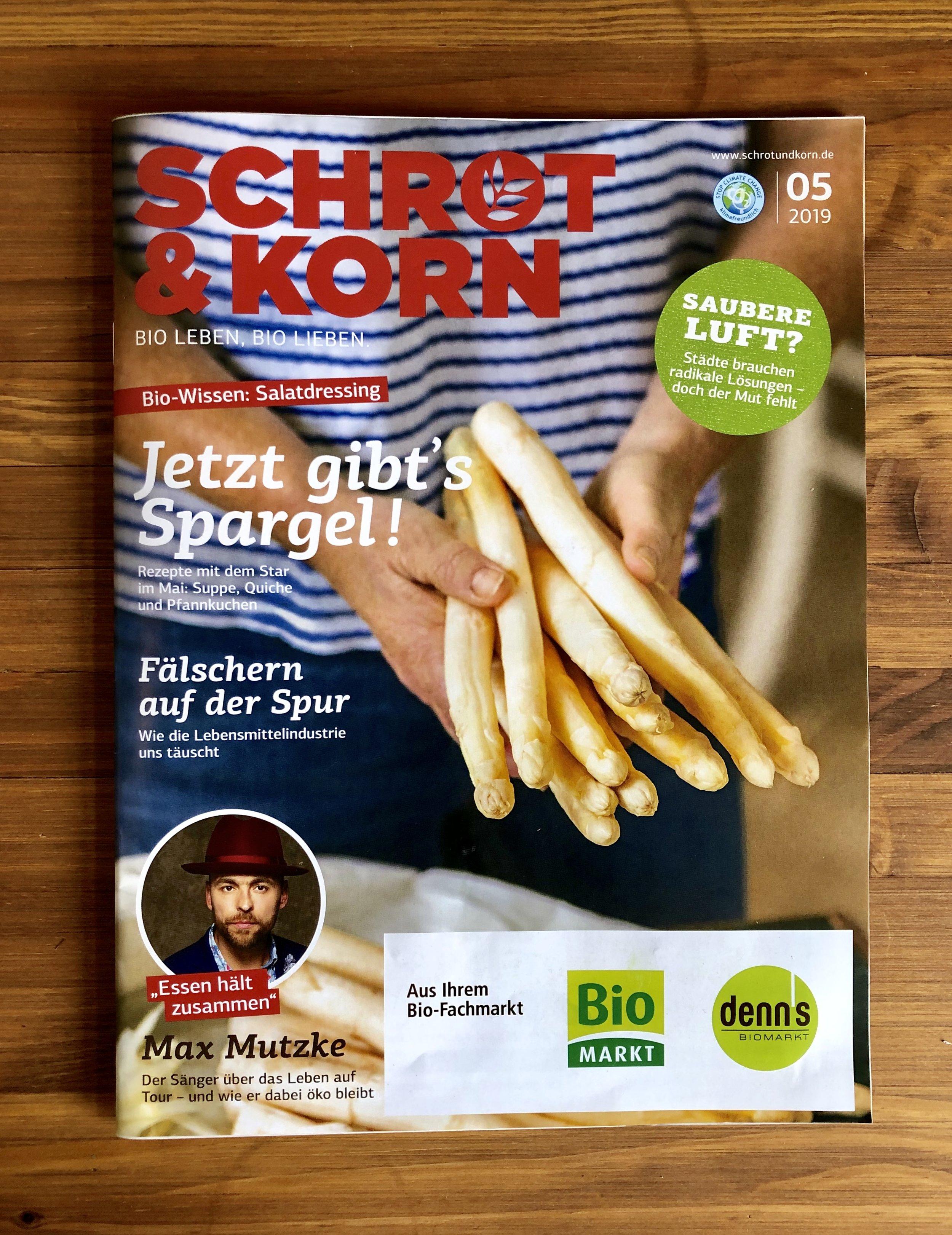 Das aktuelle Schrot & Korn Magazin 5/2019 findet sich in fast jedem Bio-Laden.