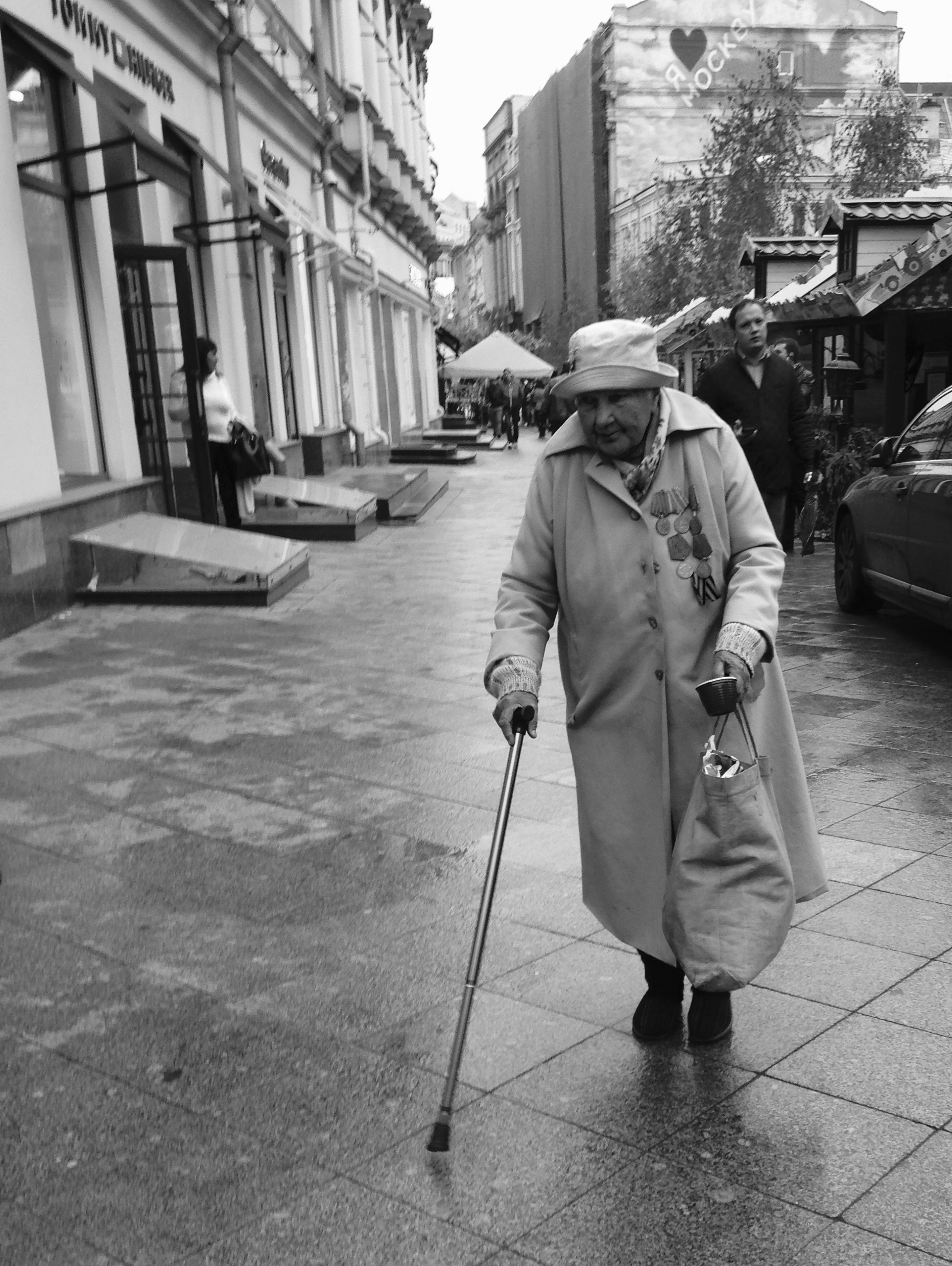 старушка (old lady)