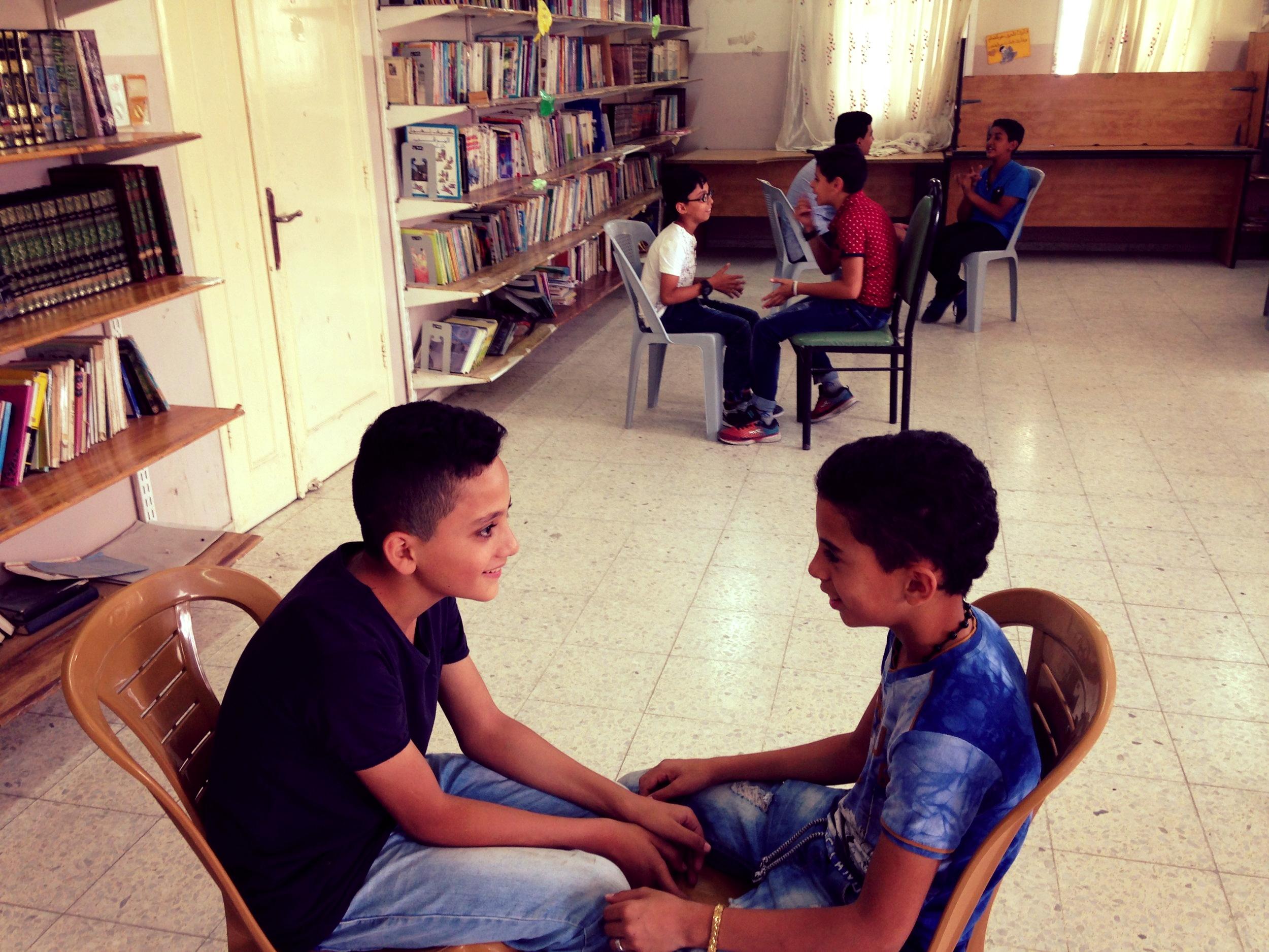 New Askar Refugees camp teens (drama workshop)