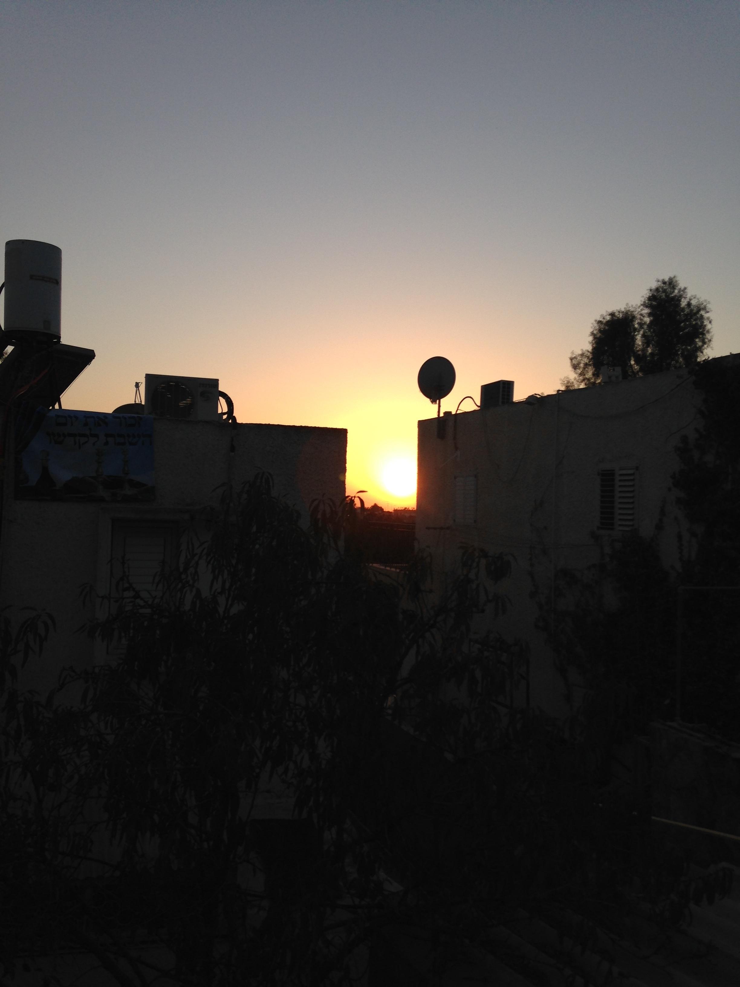 Sunset in Arad