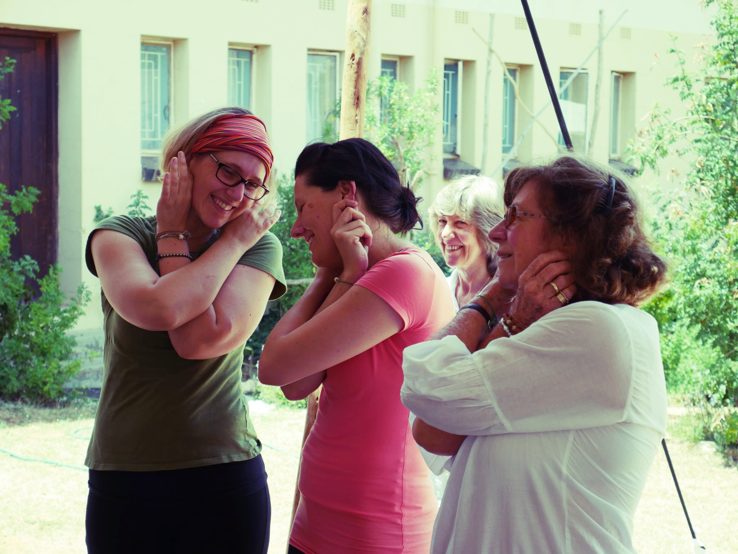 Laughter yoga session