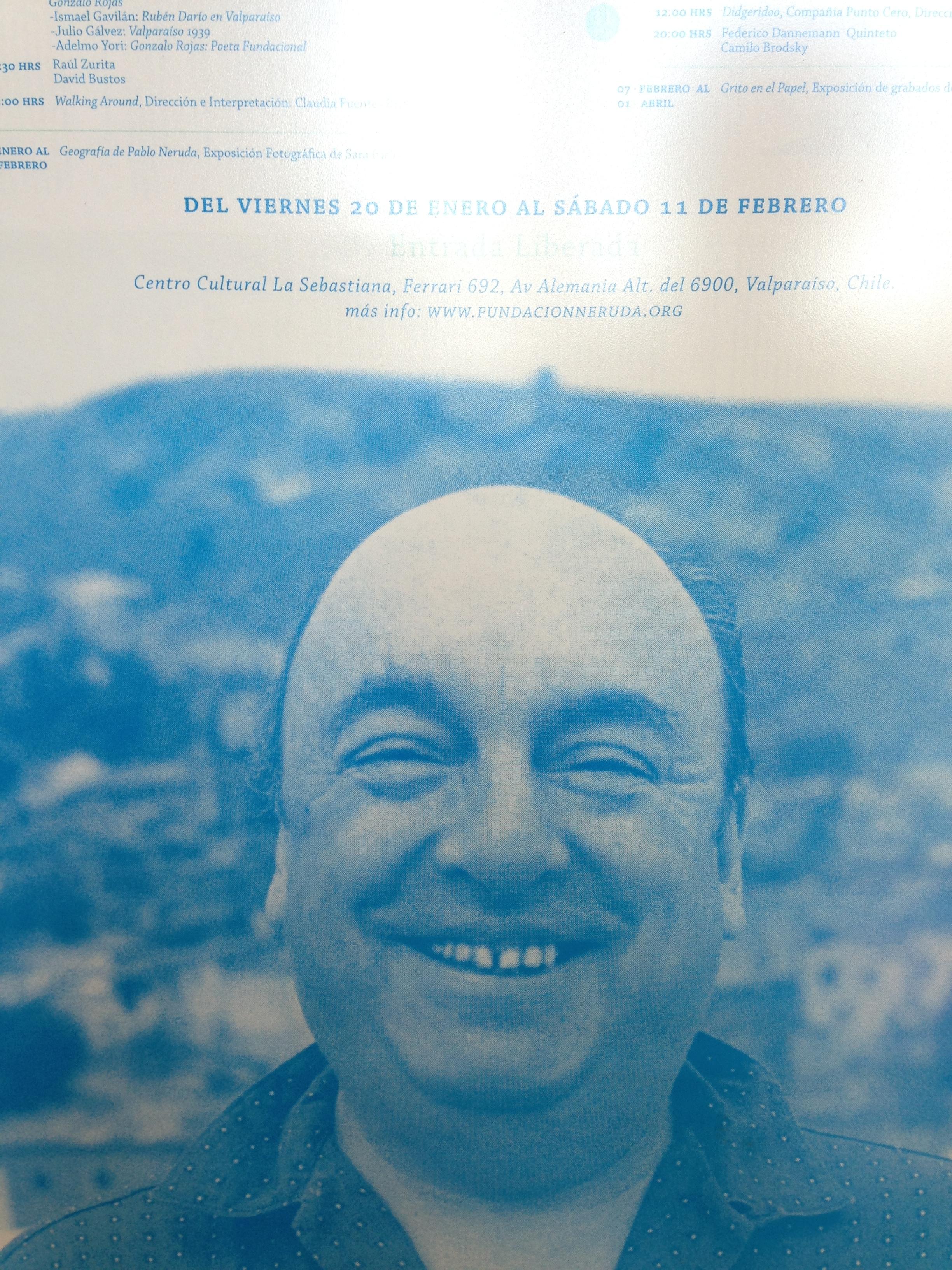 Rare photo of Pablo Neruda smiling