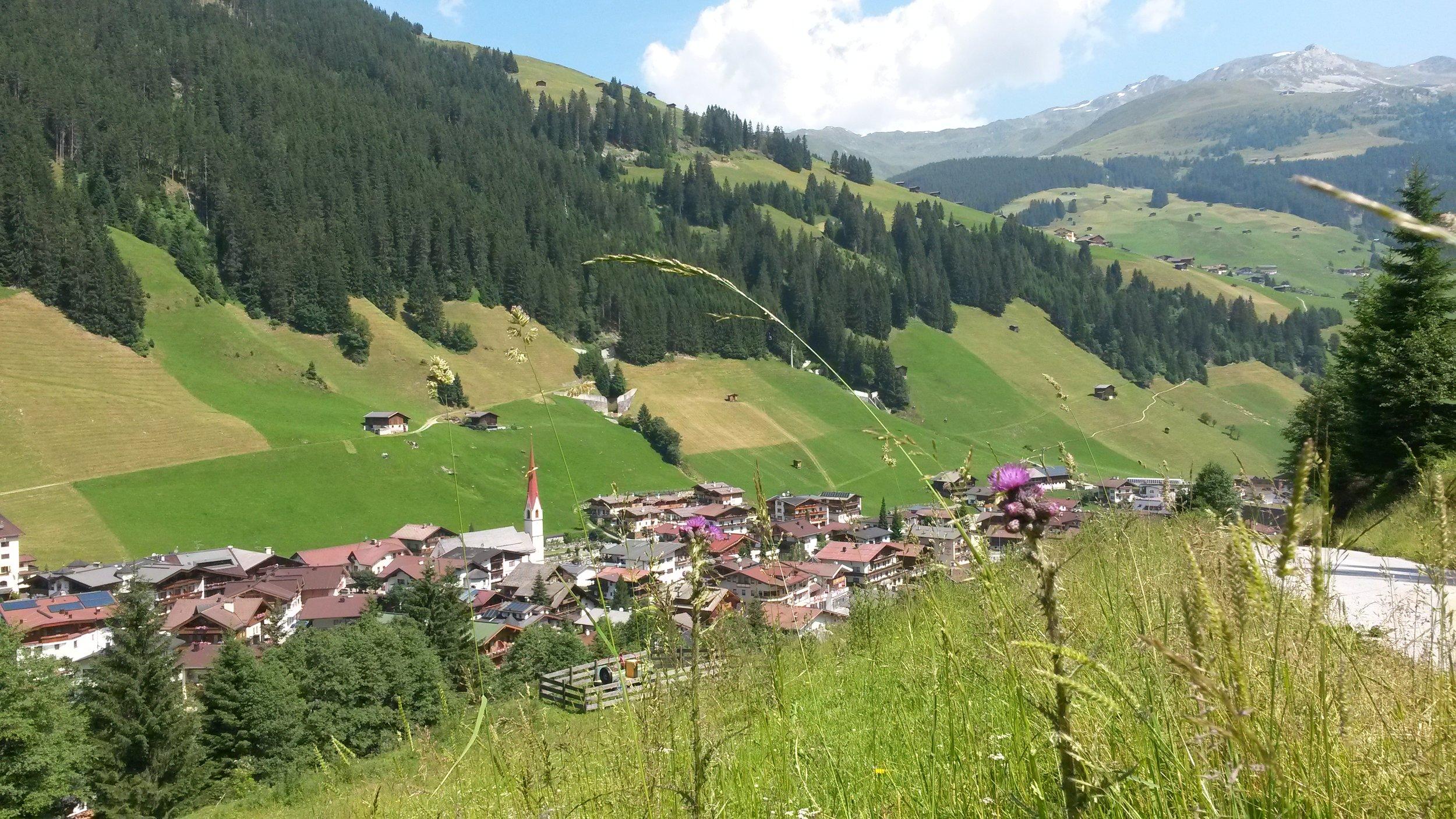 Blick auf Lanersbach