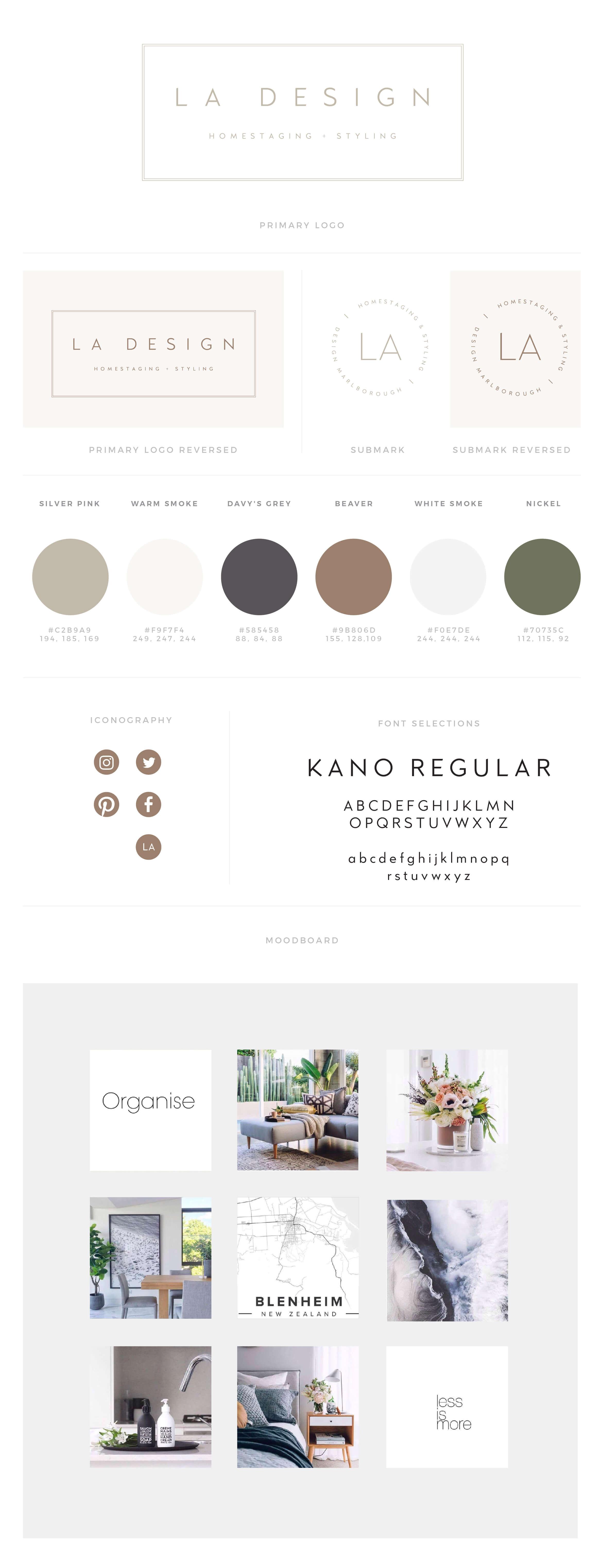 LA Design Brandboard.
