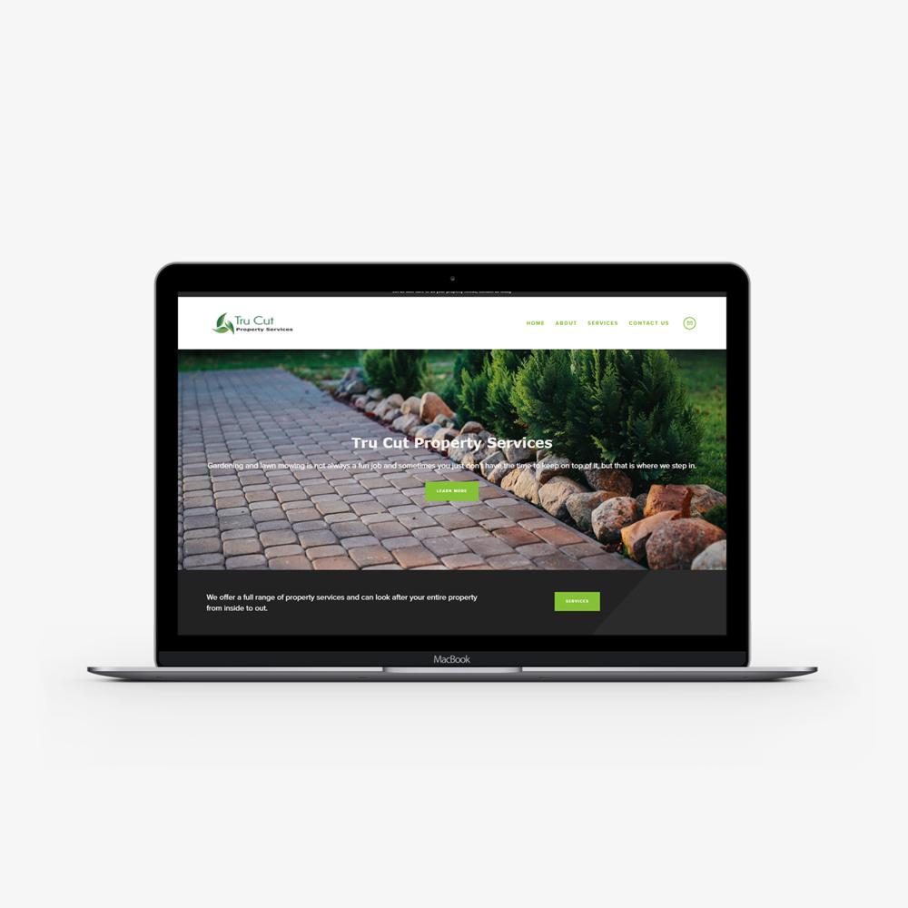 Tru Cut Property Services website.