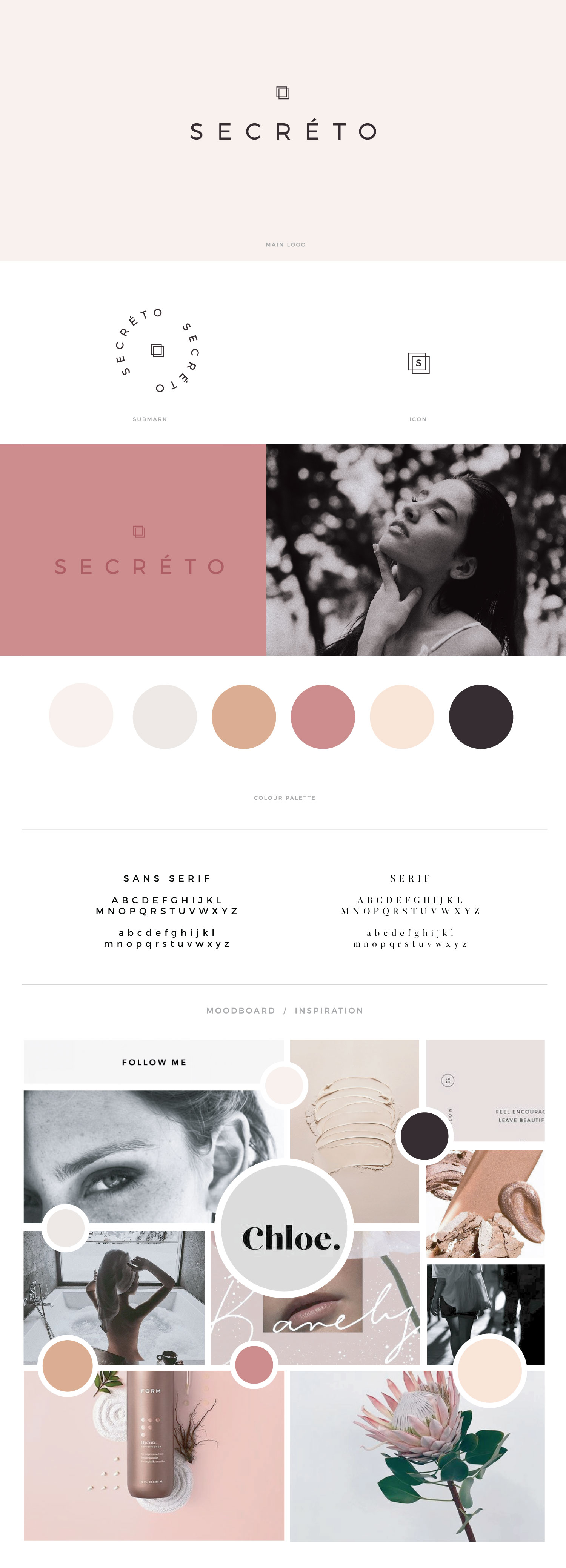 Secréto brandboard by January Made Design