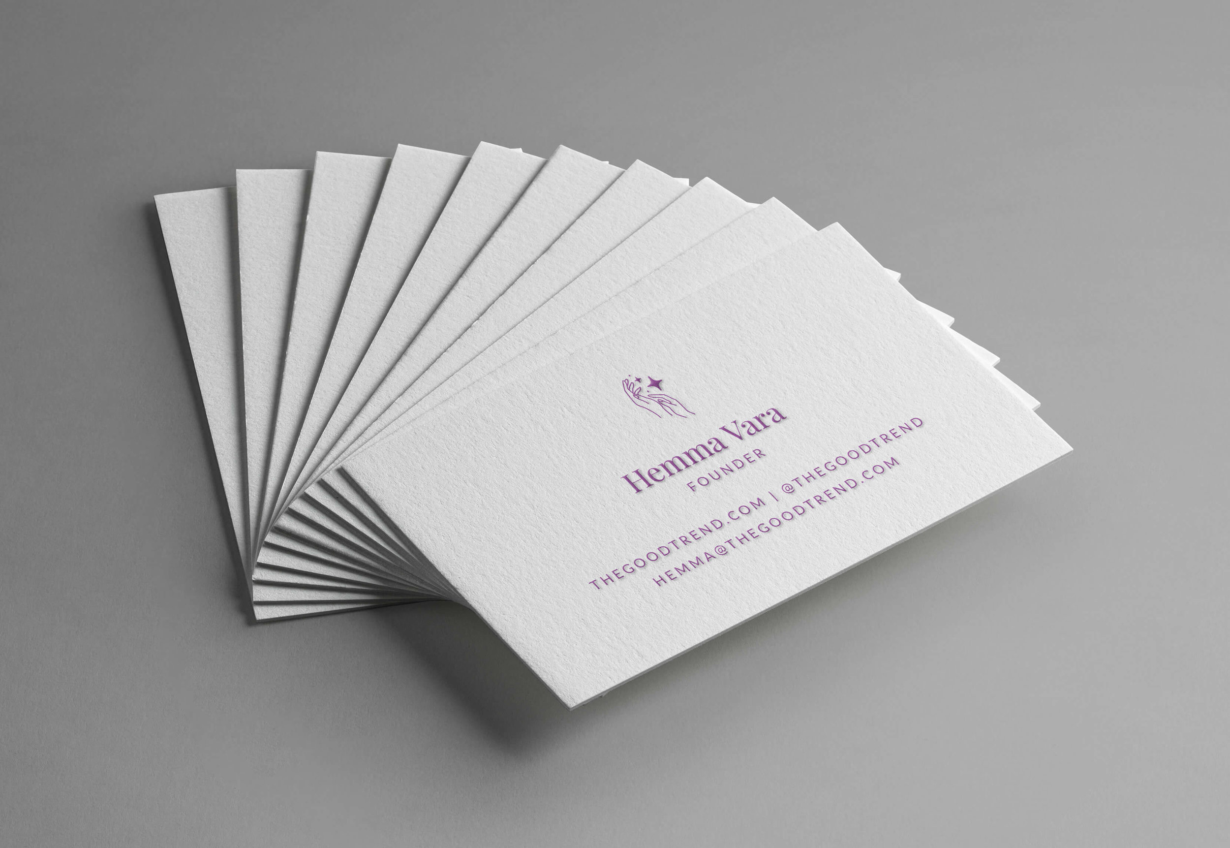 The Good Trend business cards - January Made Design