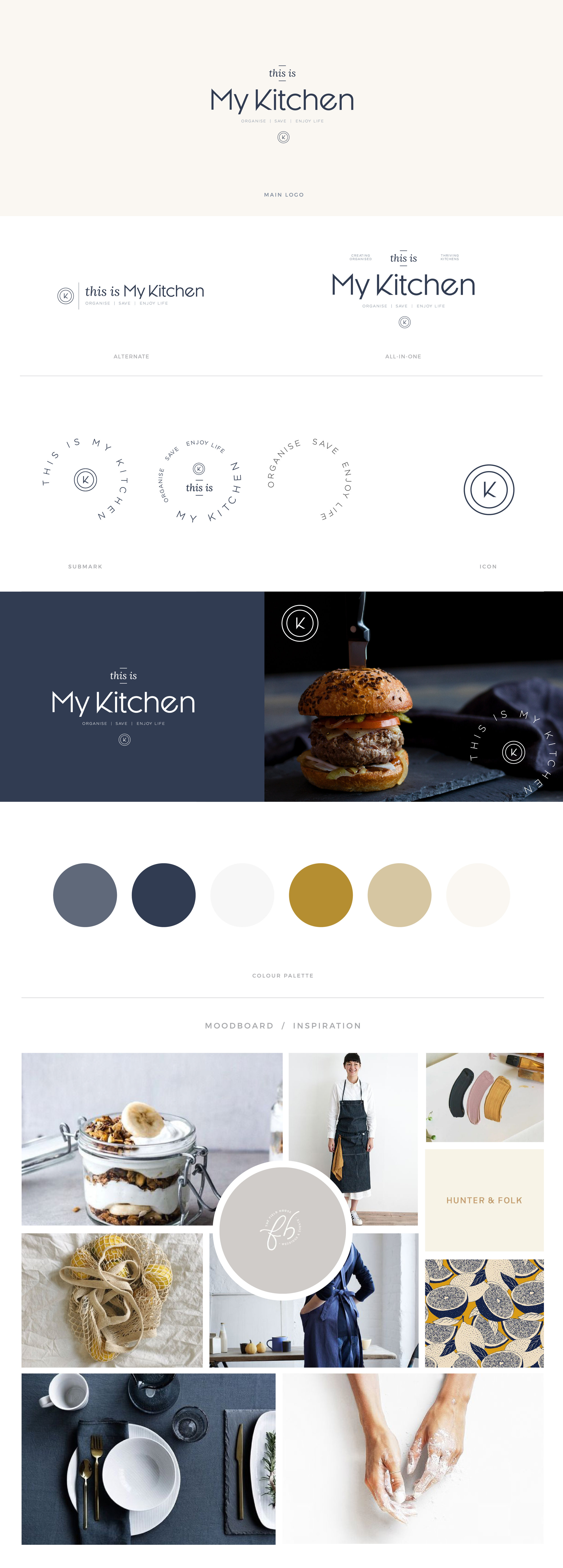 This Is My Kitchen brandboard - by January Made Design