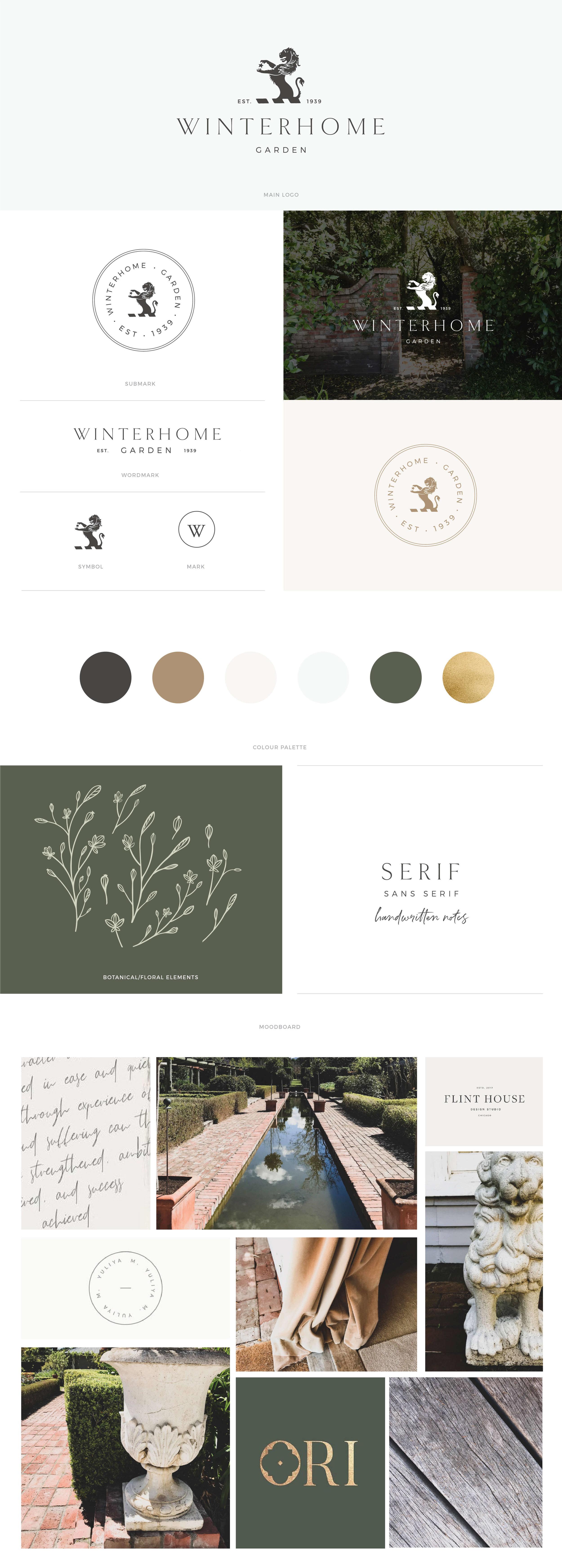 Winterhome Garden brandboard - by January Made Design