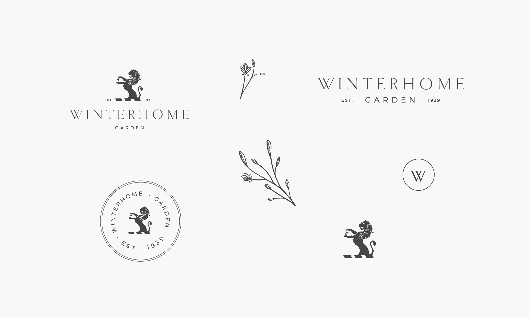 Winterhome Garden logo set