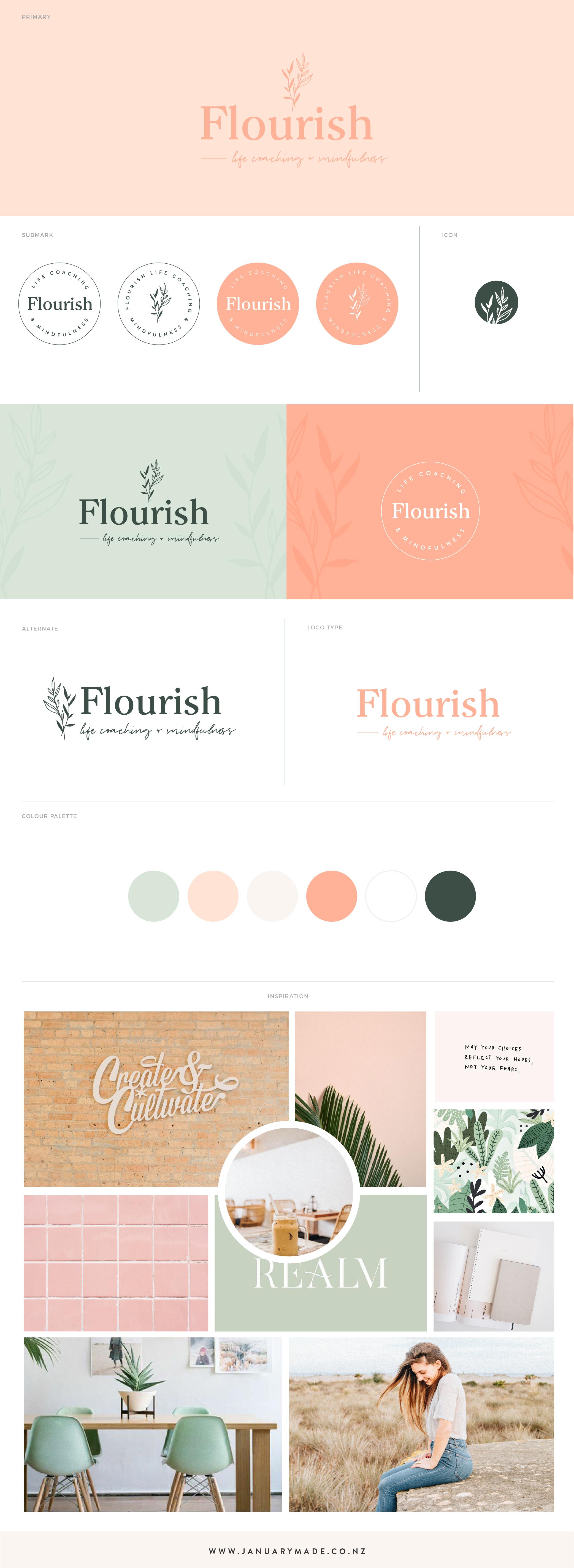 Flourish Life Coaching and Mindfulness - by January Made Design