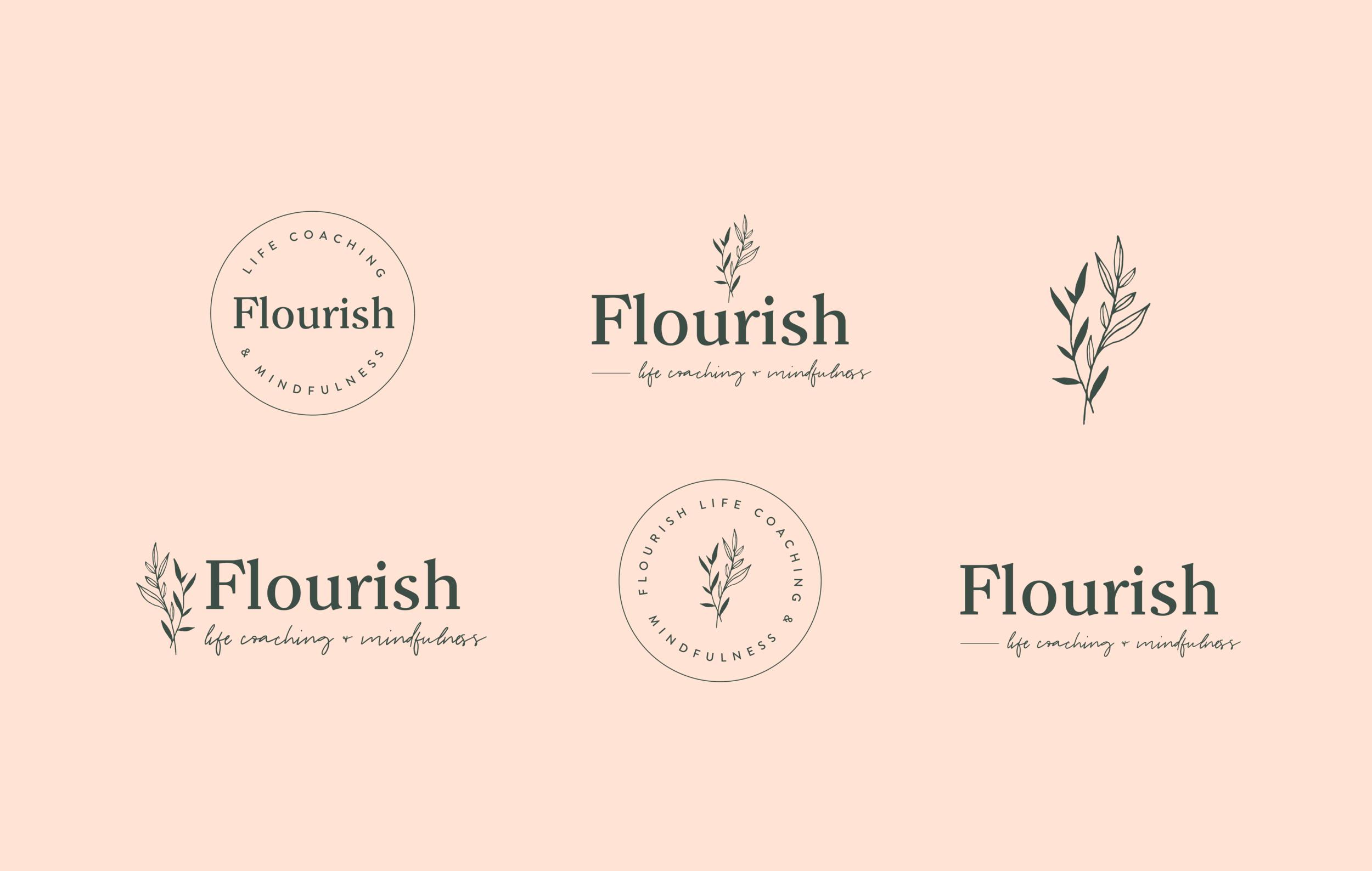 Flourish Life Coaching Logo Suite - by January Made Design