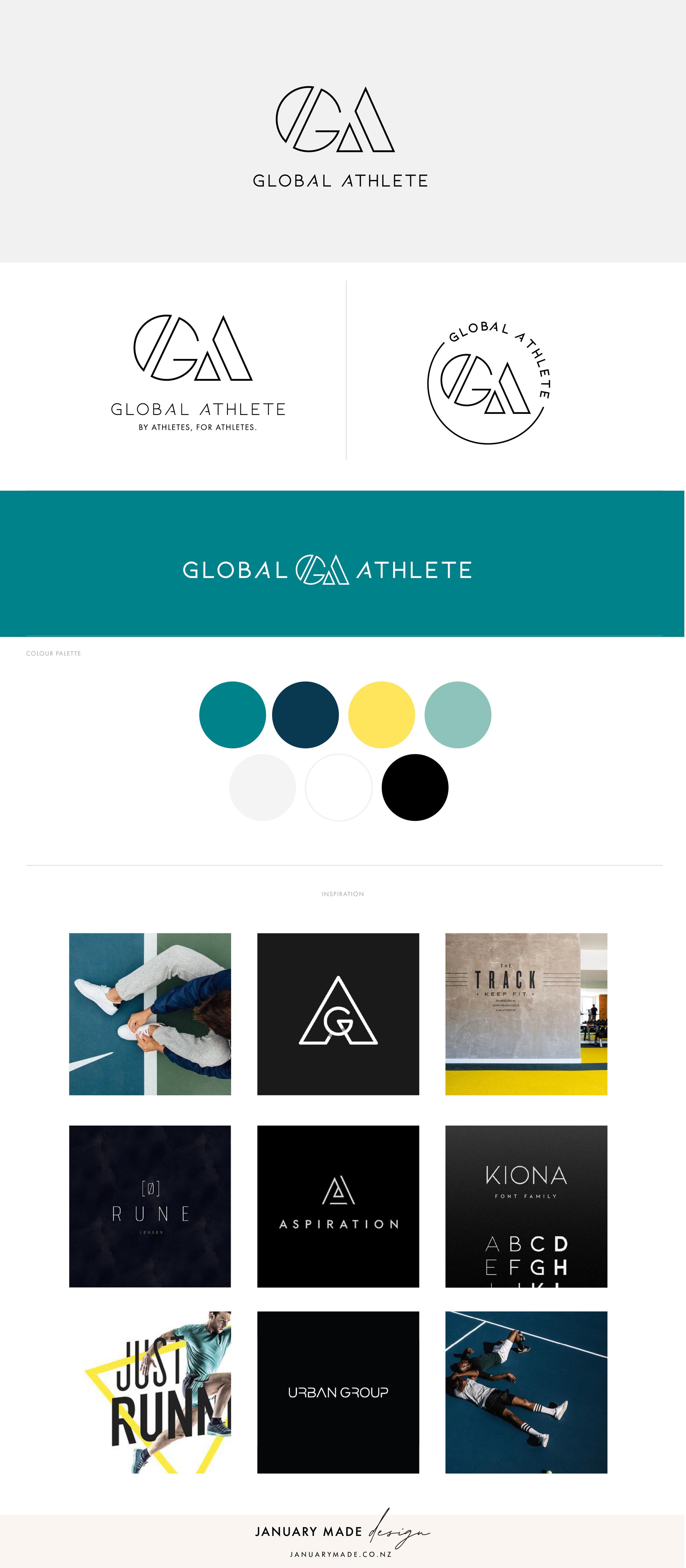Global Athlete Brandboard showcase - by January Made Design
